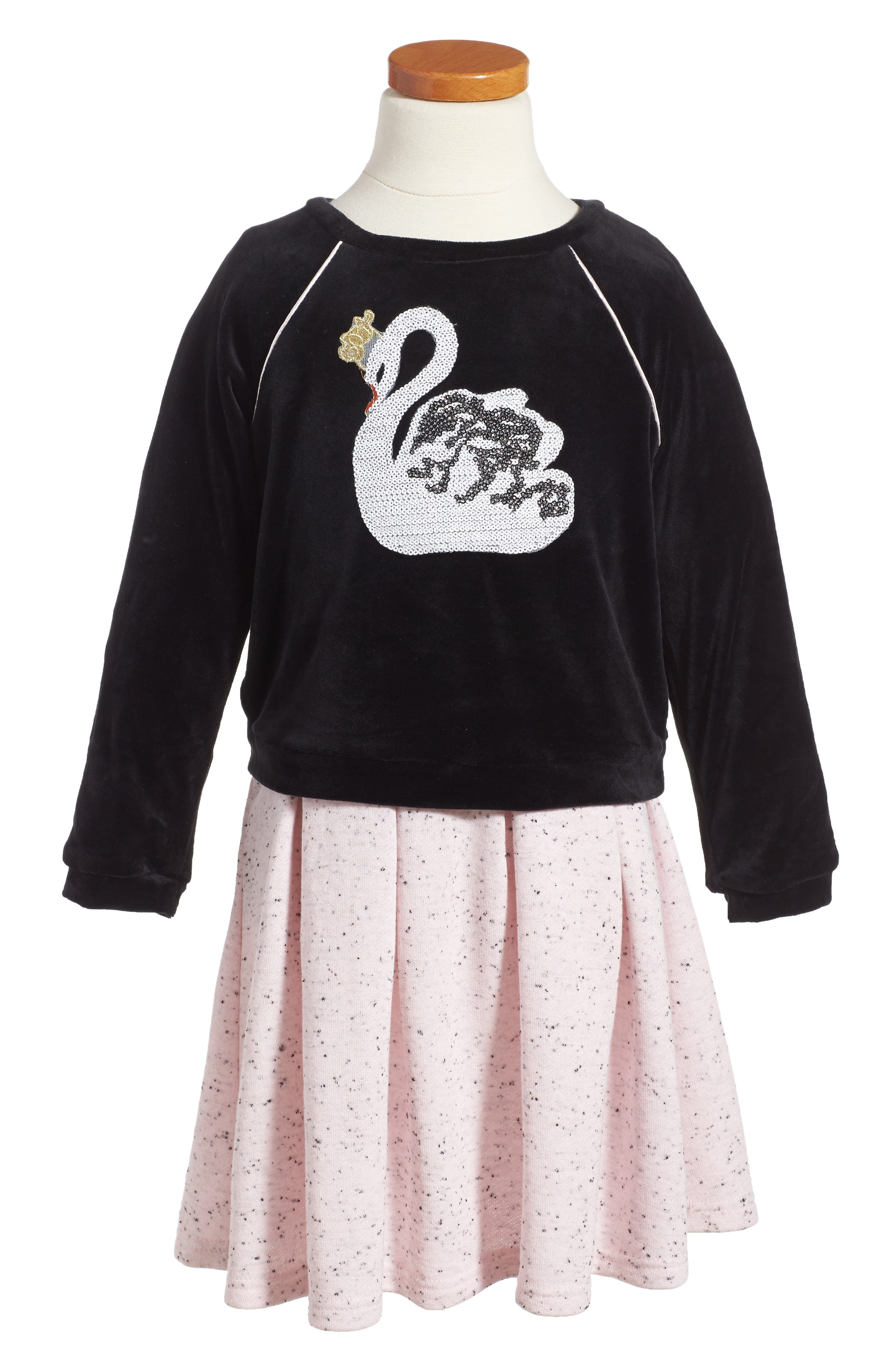 Pippa & Julie Swan Tunic & Dress Set (Toddler Girls & Little Girls)