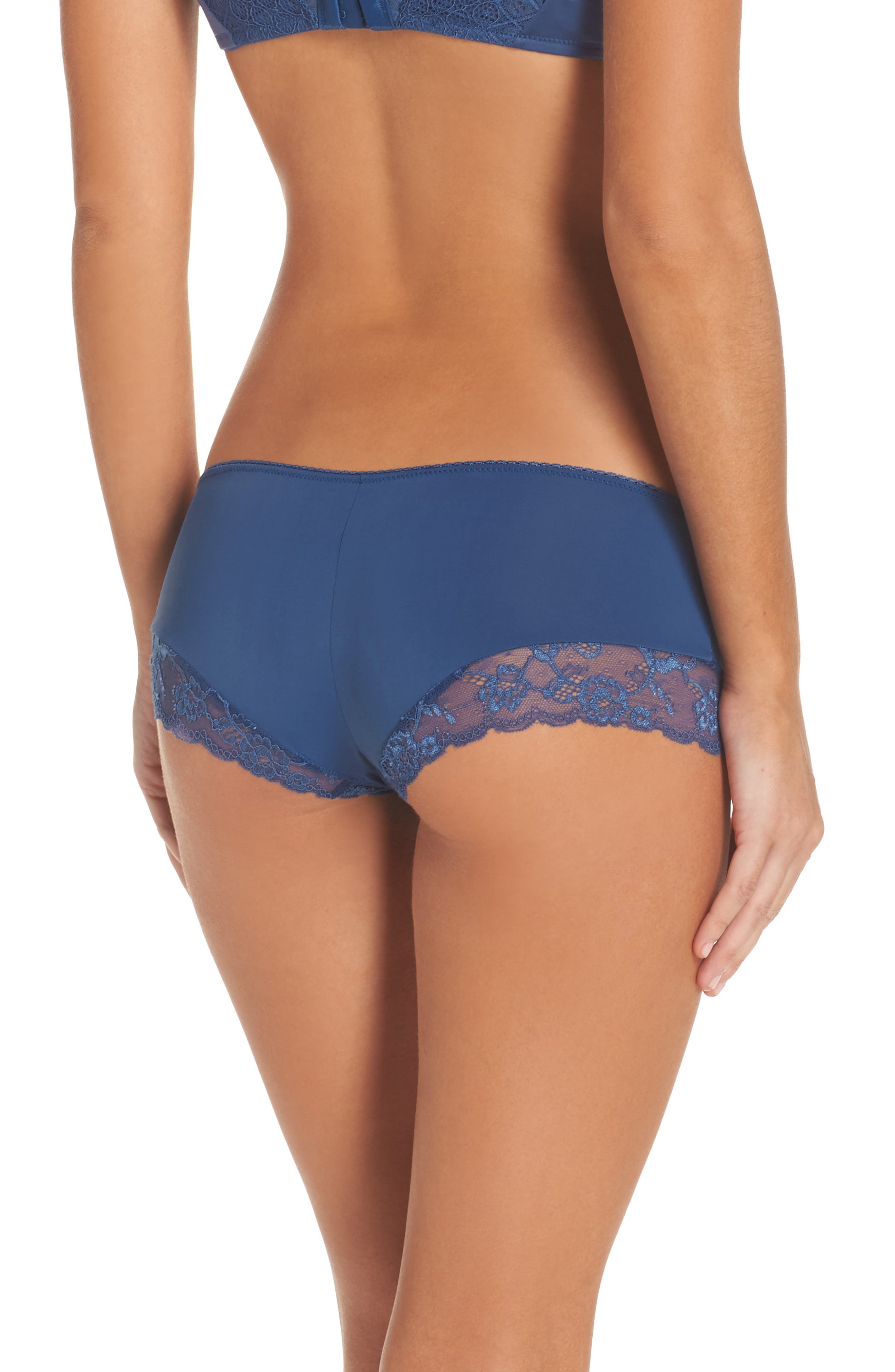 Alternate Image 2  - Honeydew Microfiber & Lace Hipster Panties (3 for $33)