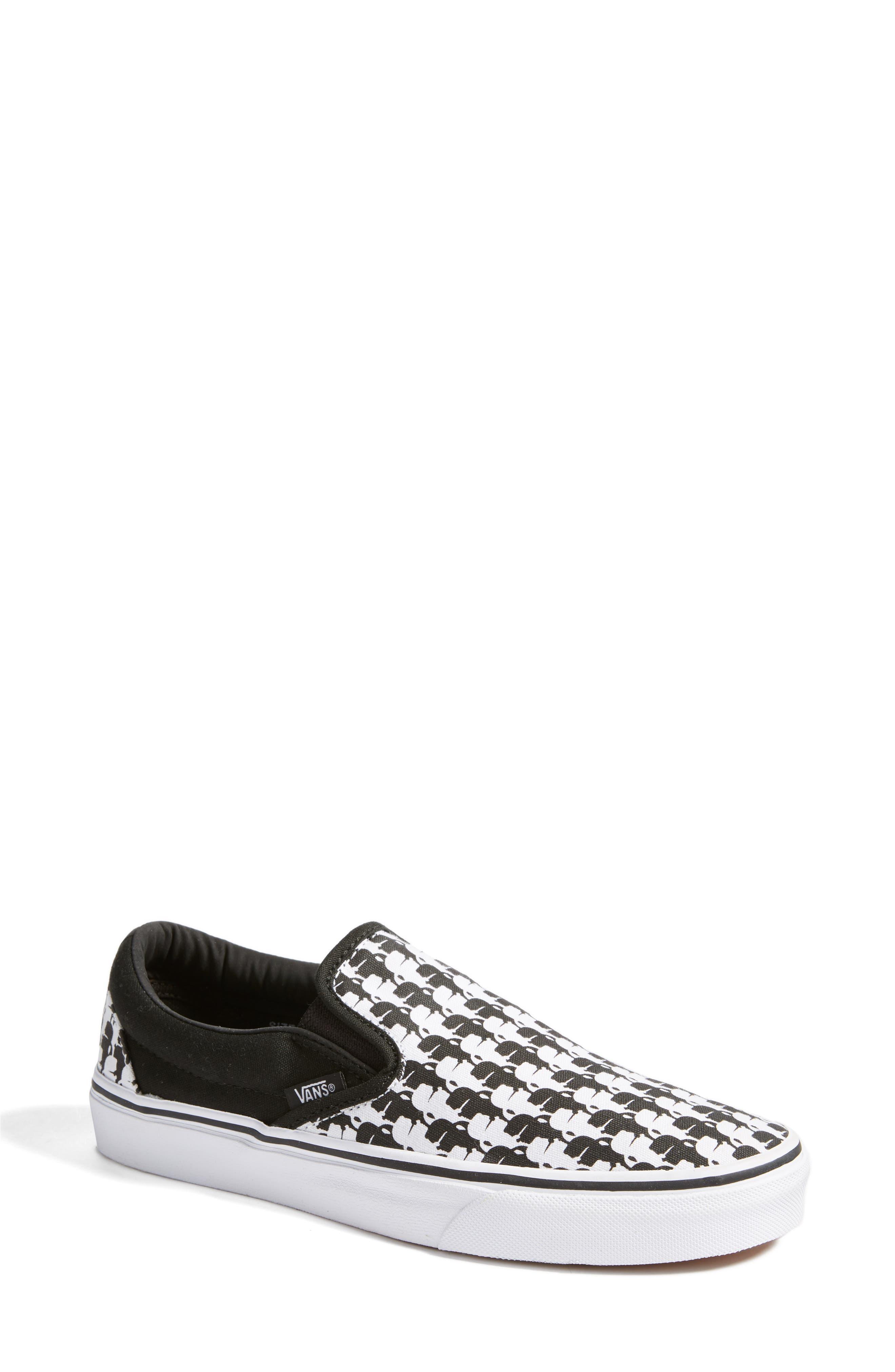 Alternate Image 1 Selected - Vans x KARL LAGERFELD Houndstooth Slip-On Sneaker (Women)