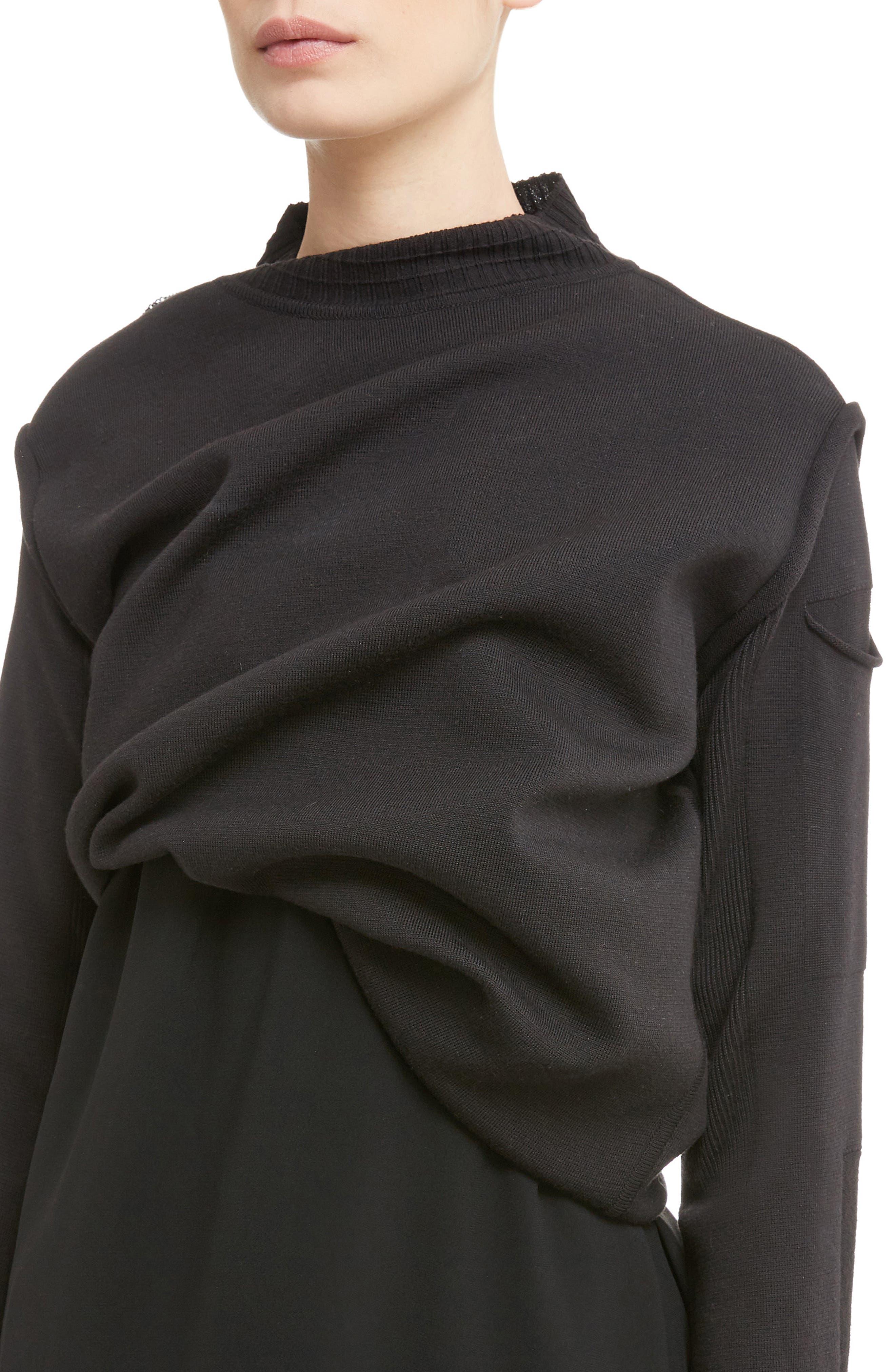 Alternate Image 4  - Rick Owens Subhuman Merino Wool Convertible Sweater