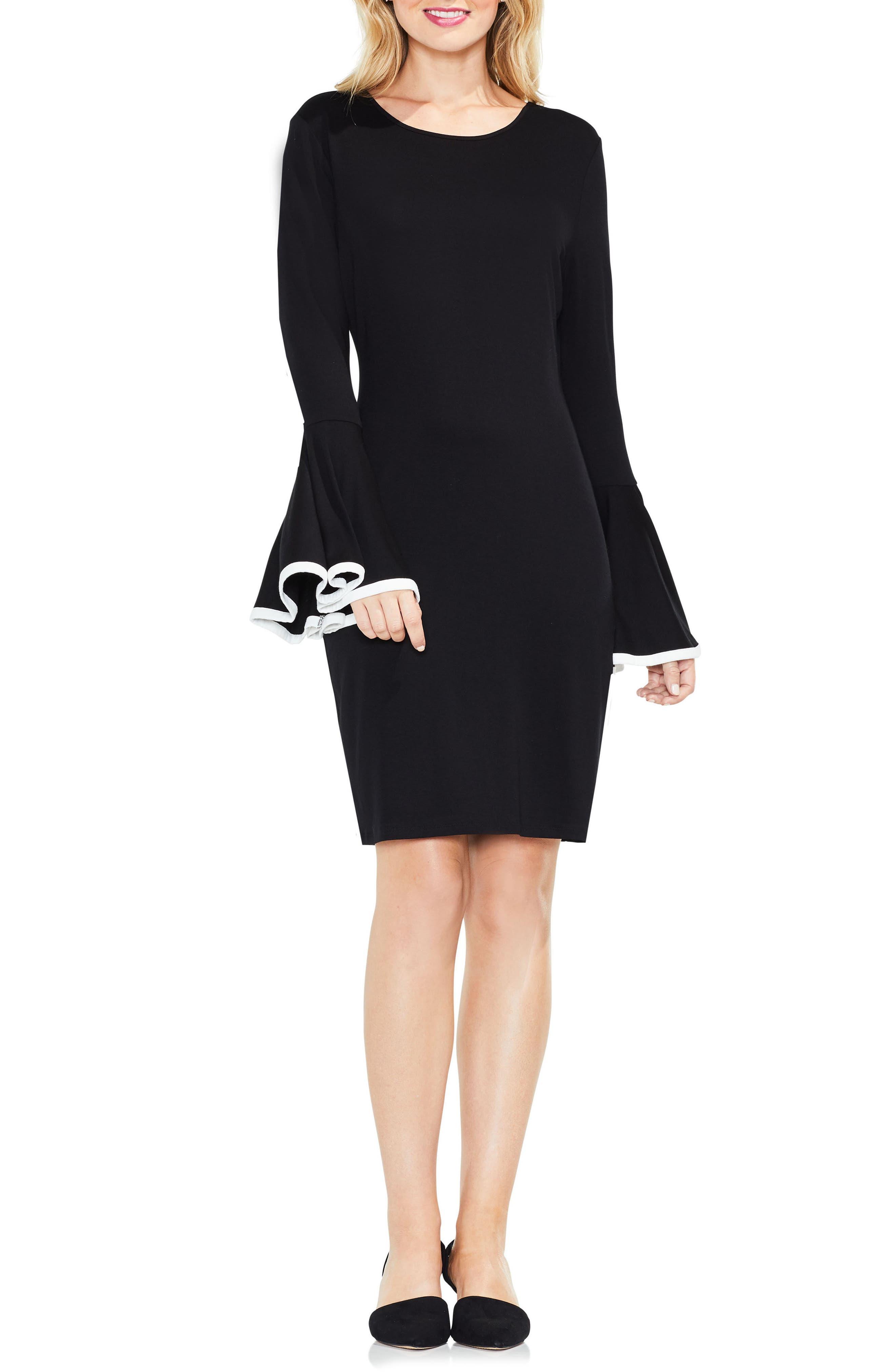 Circle Cuff Dress,                             Alternate thumbnail 2, color,                             Rich Black