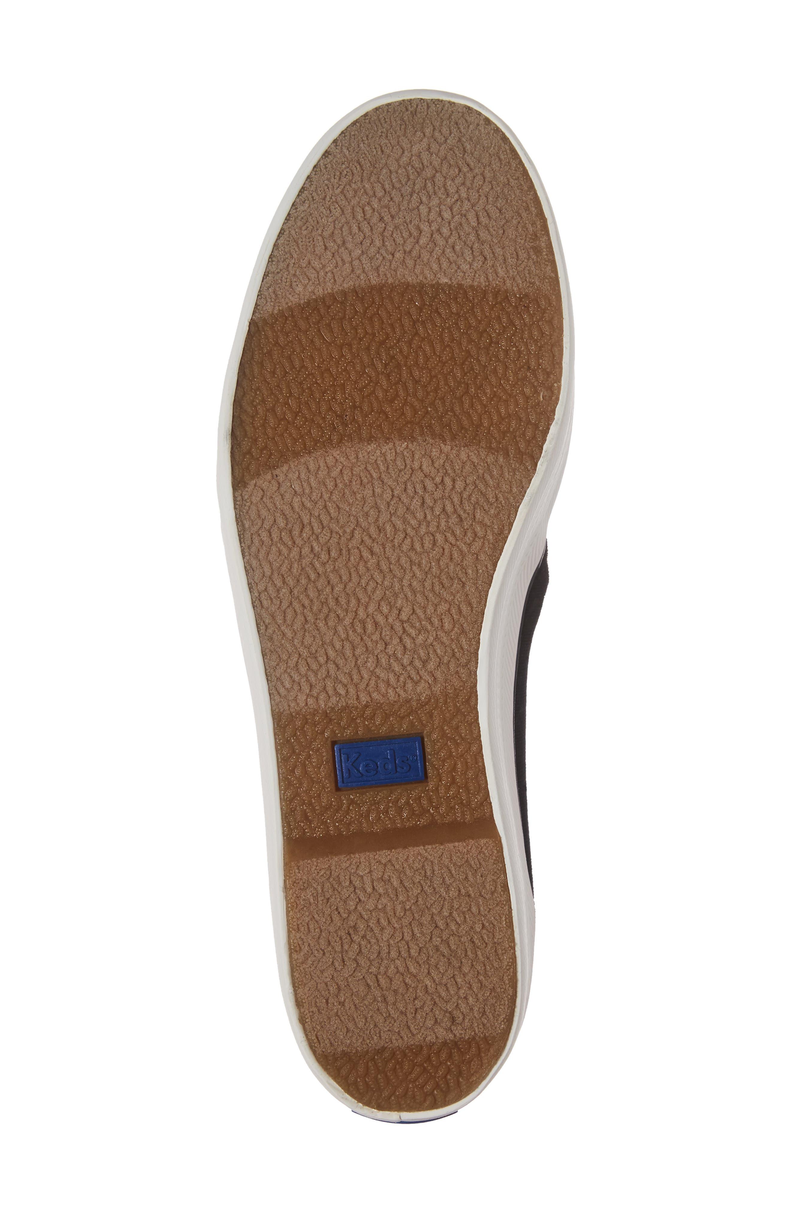 Triple Decker Slip-On Platform Sneaker,                             Alternate thumbnail 6, color,                             Black Velvet
