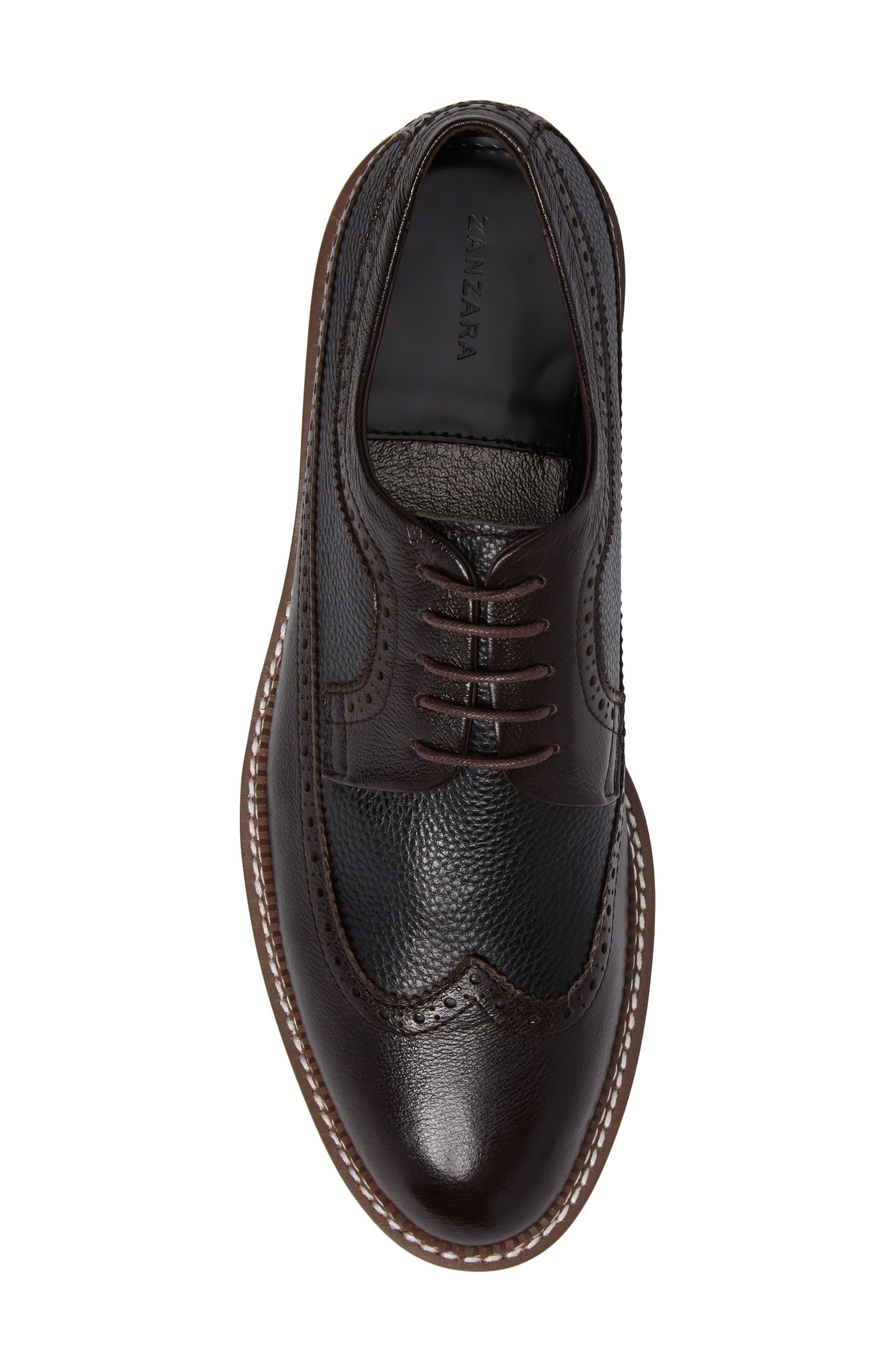 Fouquet Wingtip Derby,                             Alternate thumbnail 5, color,                             Brown Leather