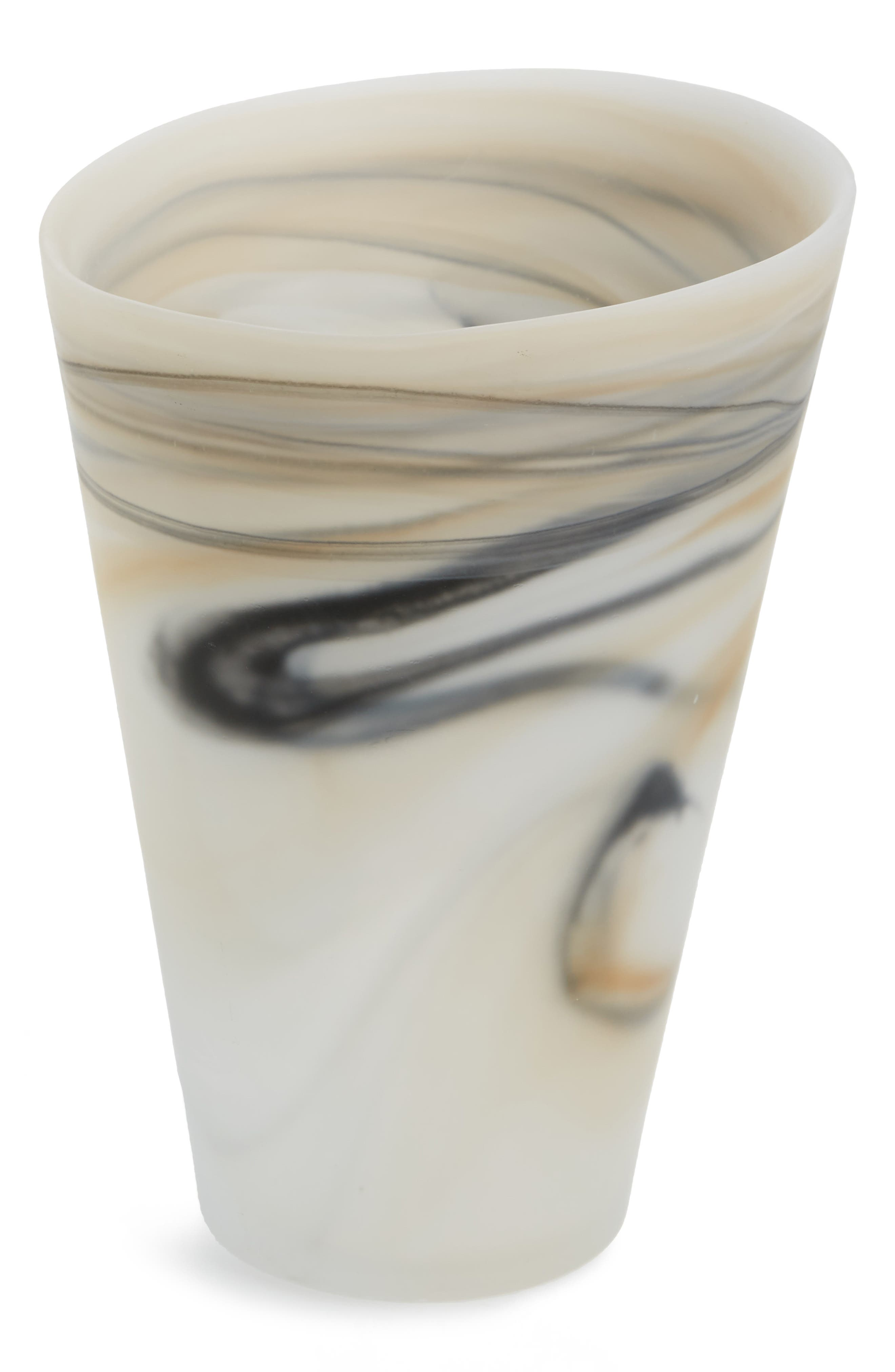 Shiraleah Frosted Glass Vase