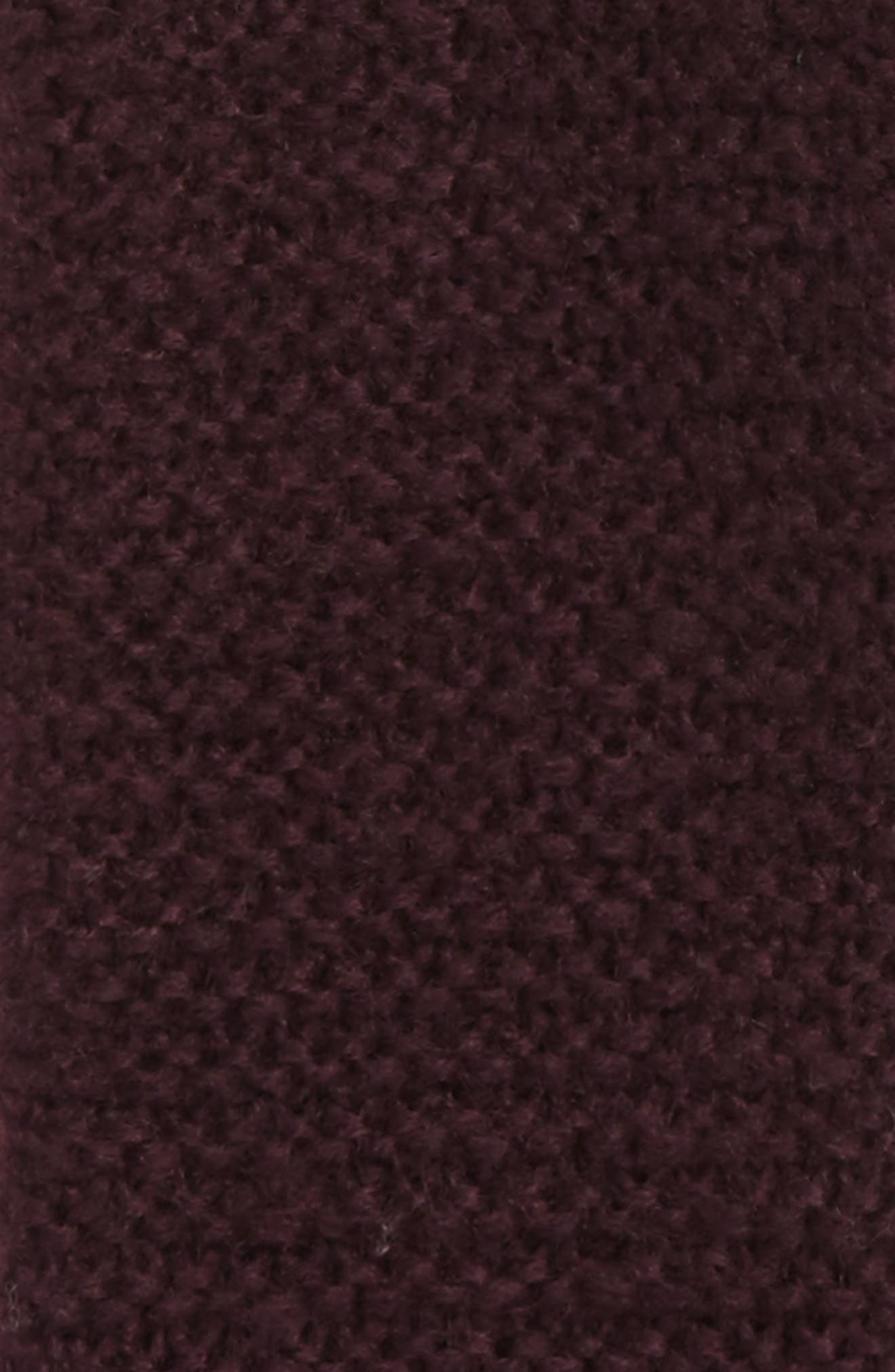 Garter Stitch Fingerless Gloves,                             Alternate thumbnail 2, color,                             Deep Eggplant