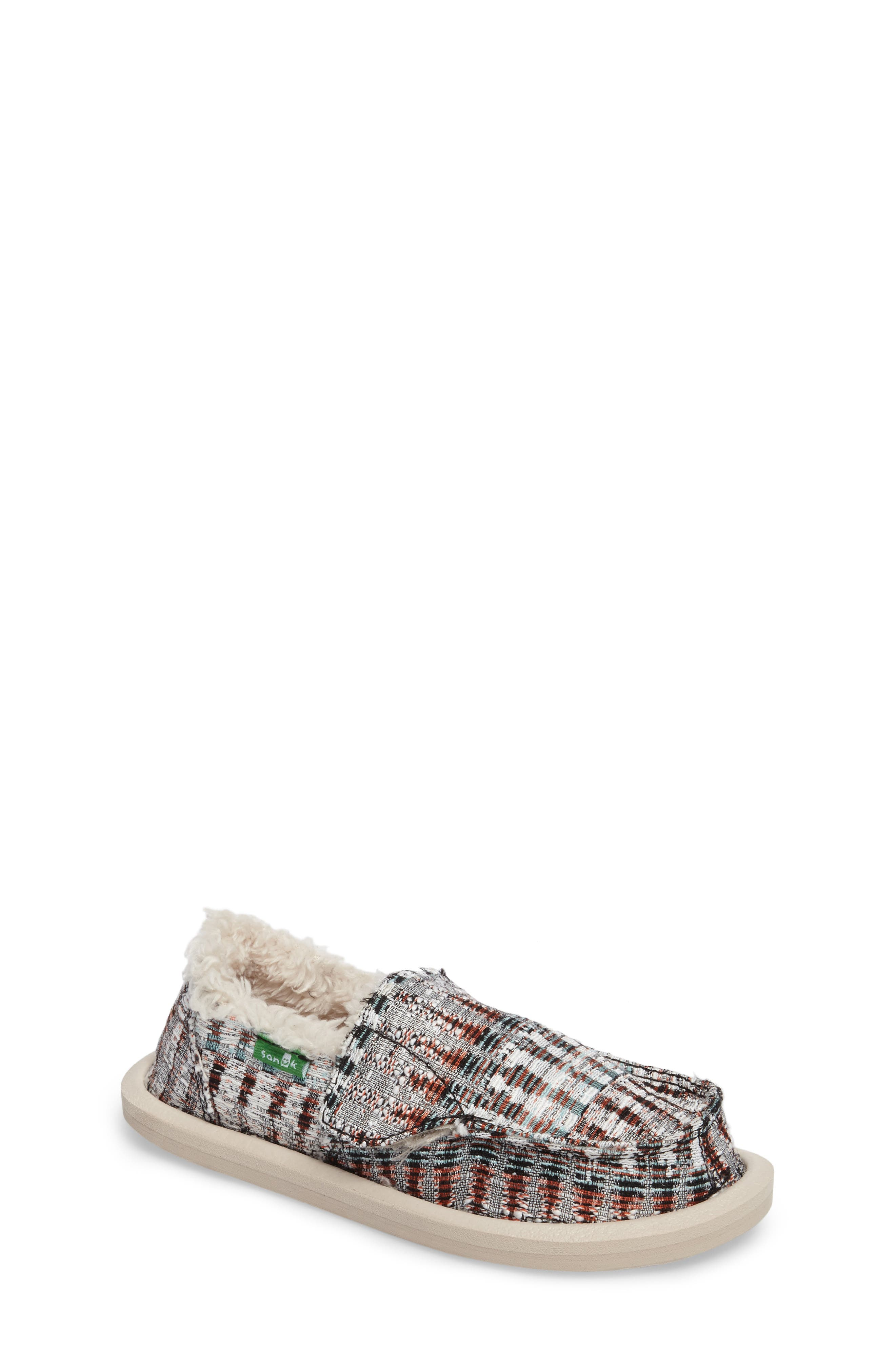 Lil Donna Ice Chill Faux Fur Slip-On,                             Main thumbnail 1, color,                             White