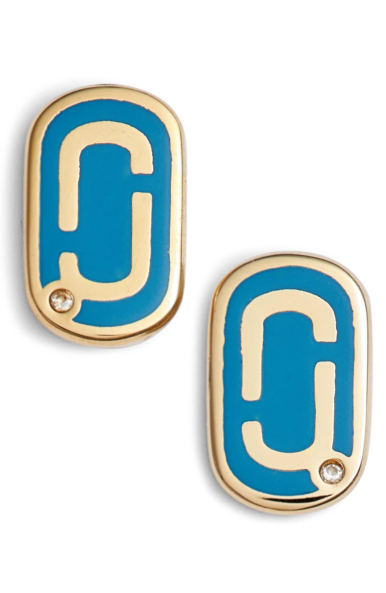 Main Image - MARC JACOBS Icon Enamel Stud Earrings