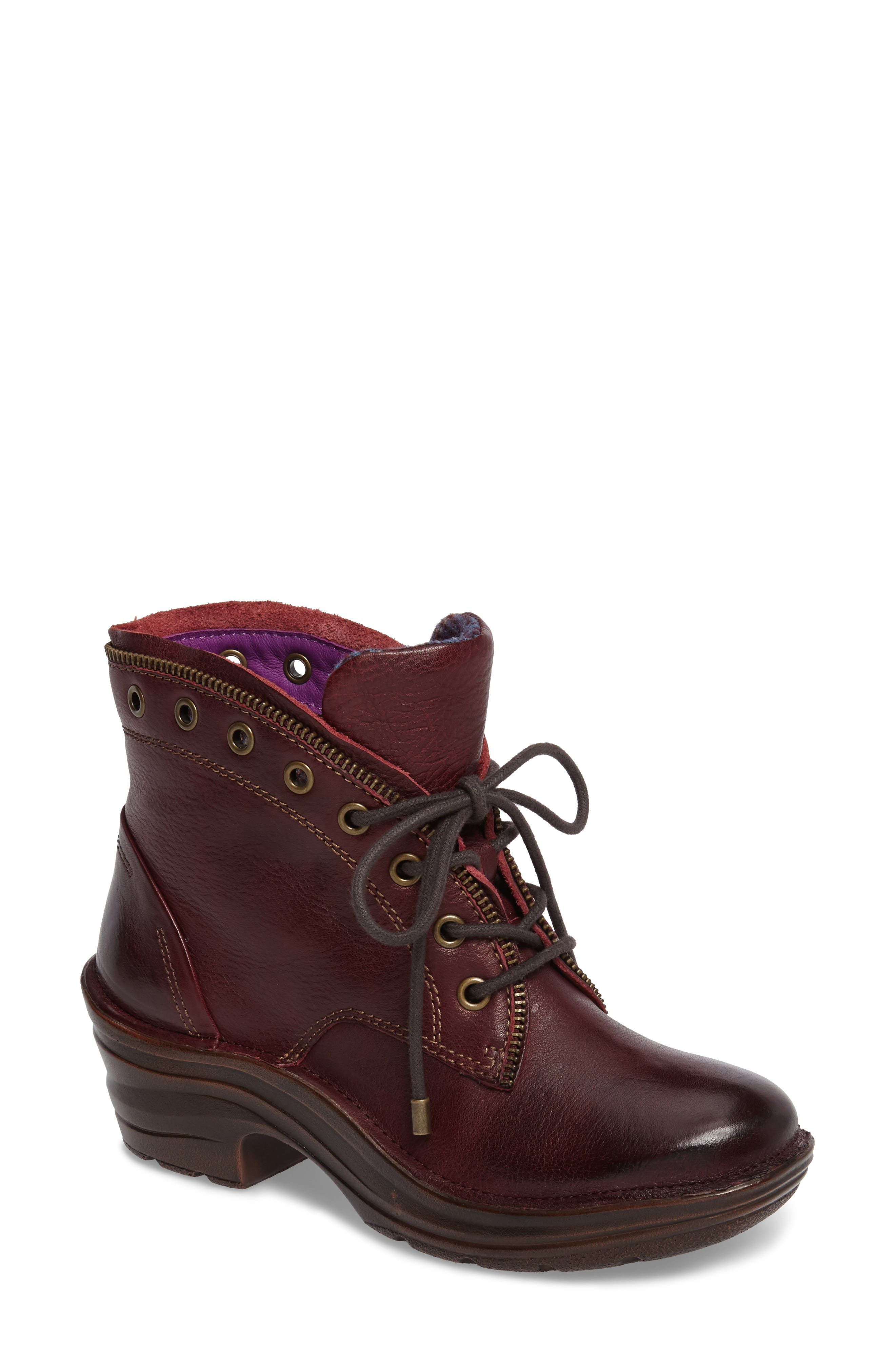 Rangely Boot,                         Main,                         color, Marsala Red Leather