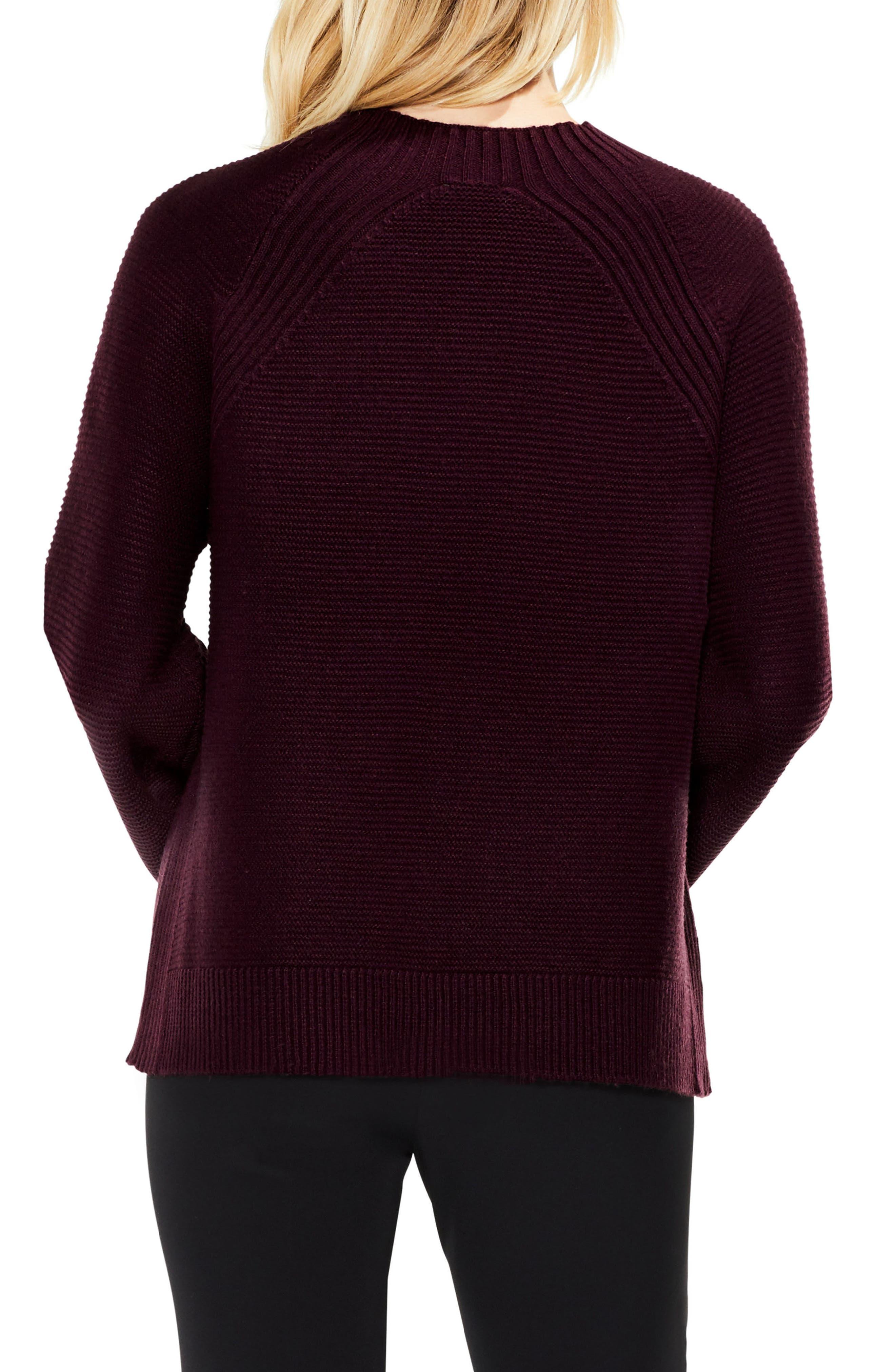 Bell Sleeve Sweater,                             Alternate thumbnail 2, color,                             Cherry Noir