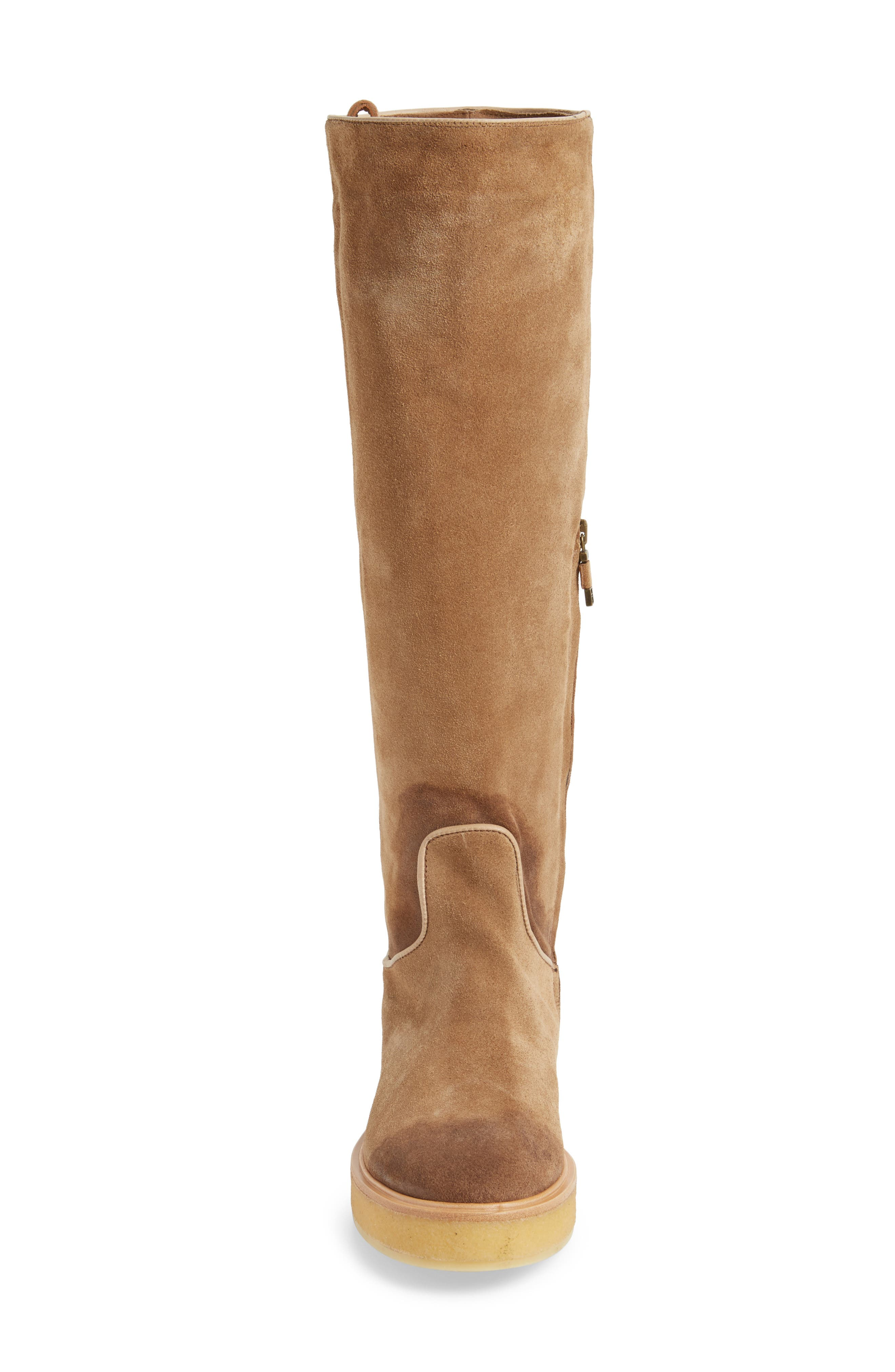 Nerola Knee High Boot,                             Alternate thumbnail 4, color,                             Sahara
