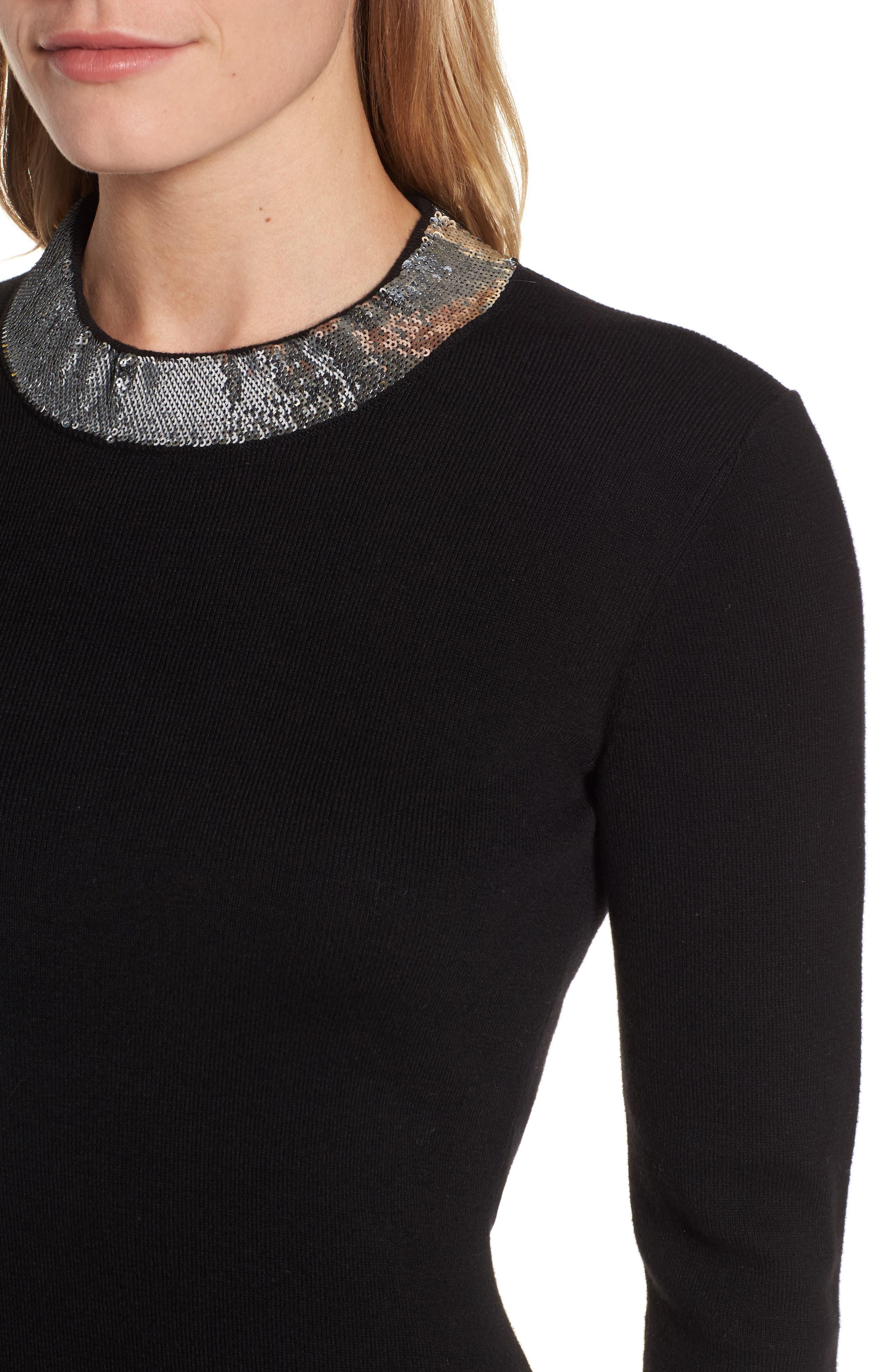Alternate Image 4  - MICHAEL MIchael Kors Sequin Collar Dress