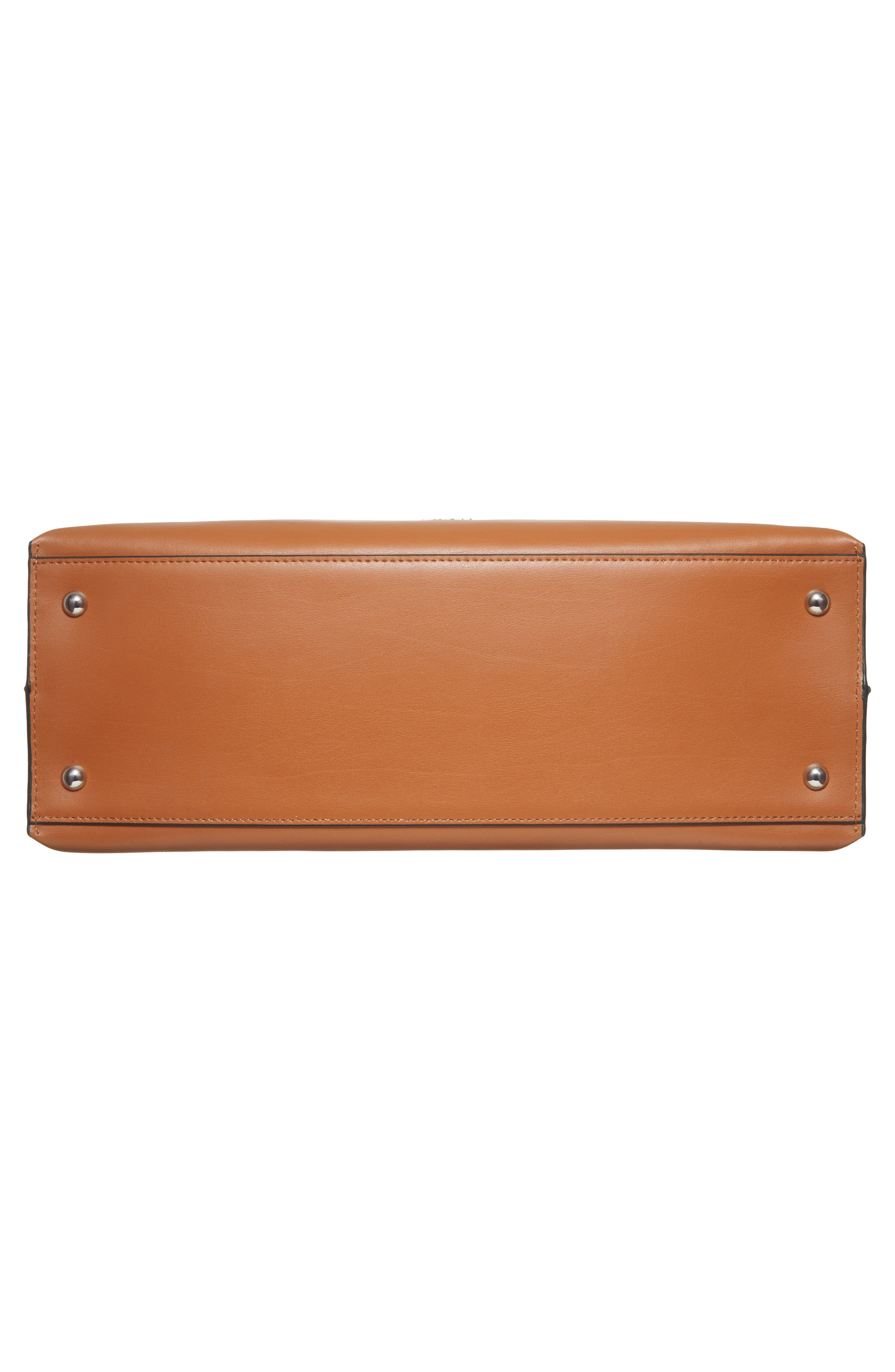 LODIS Silicon Valley - Lorrain RFID Leather Satchel,                             Alternate thumbnail 6, color,                             Toffee/ Taupe