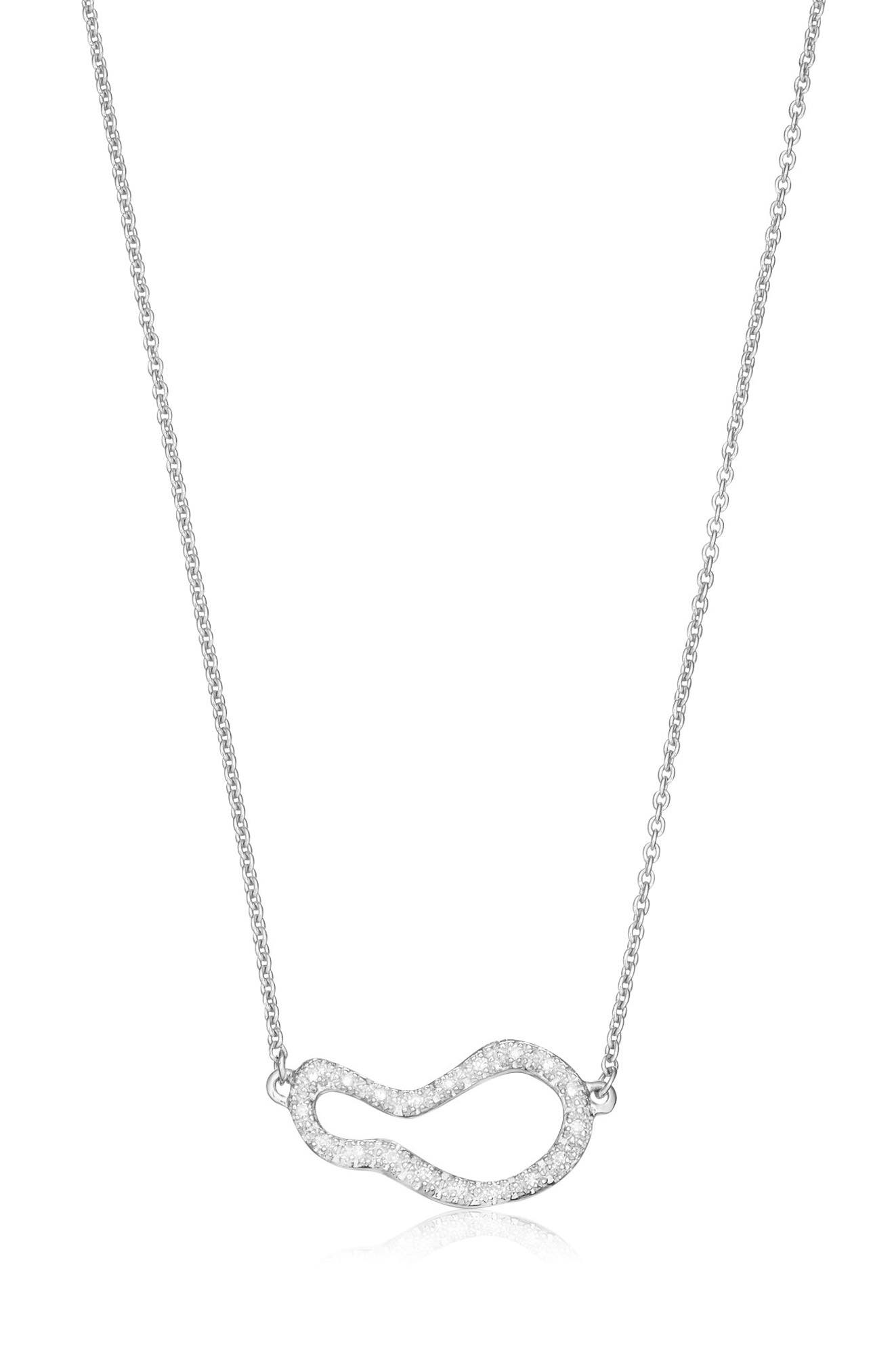 Main Image - Monica Vinader Small Pod Diamond Necklace