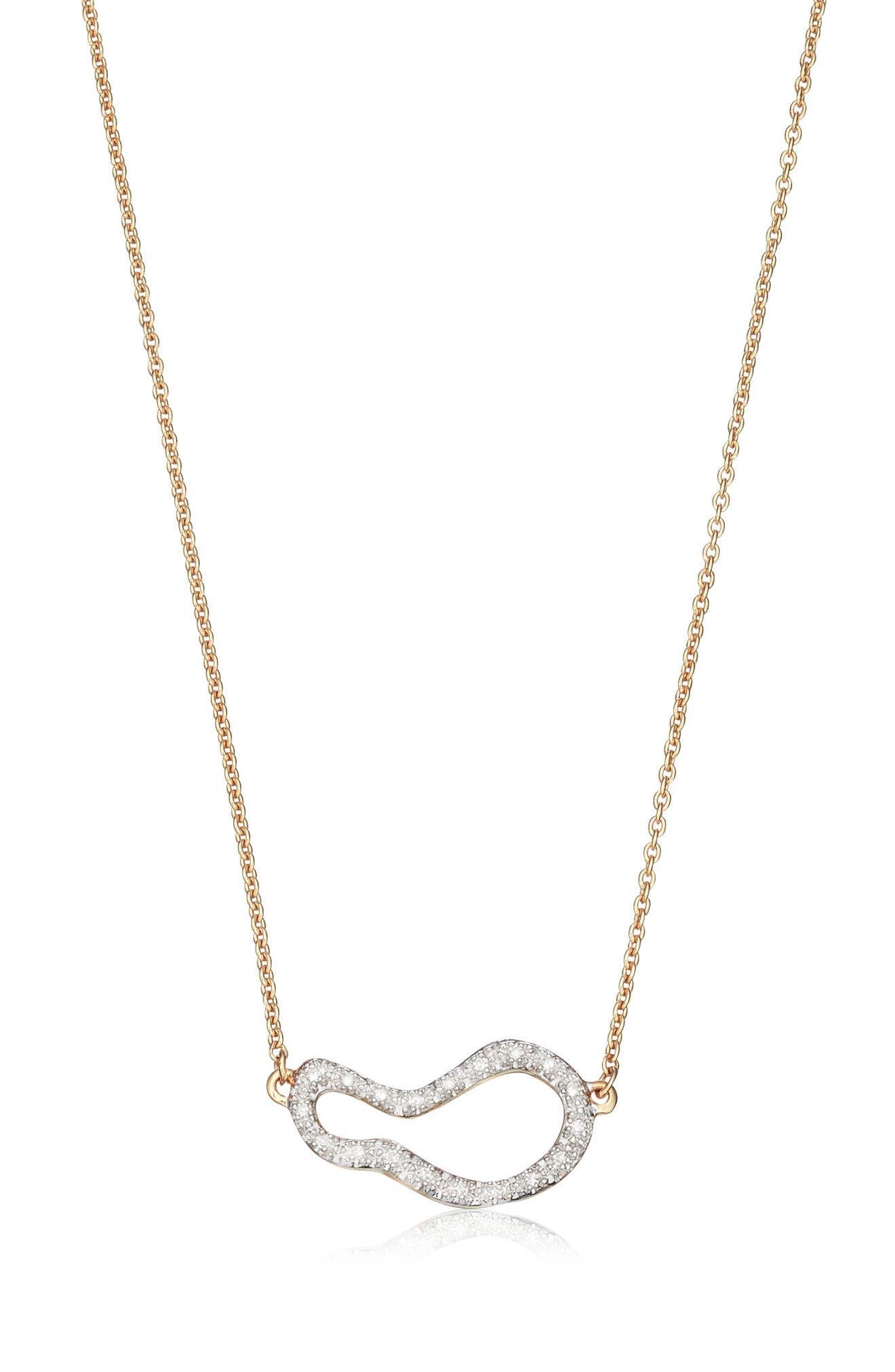 Alternate Image 1 Selected - Monica Vinader Riva Small Pod Diamond Necklace