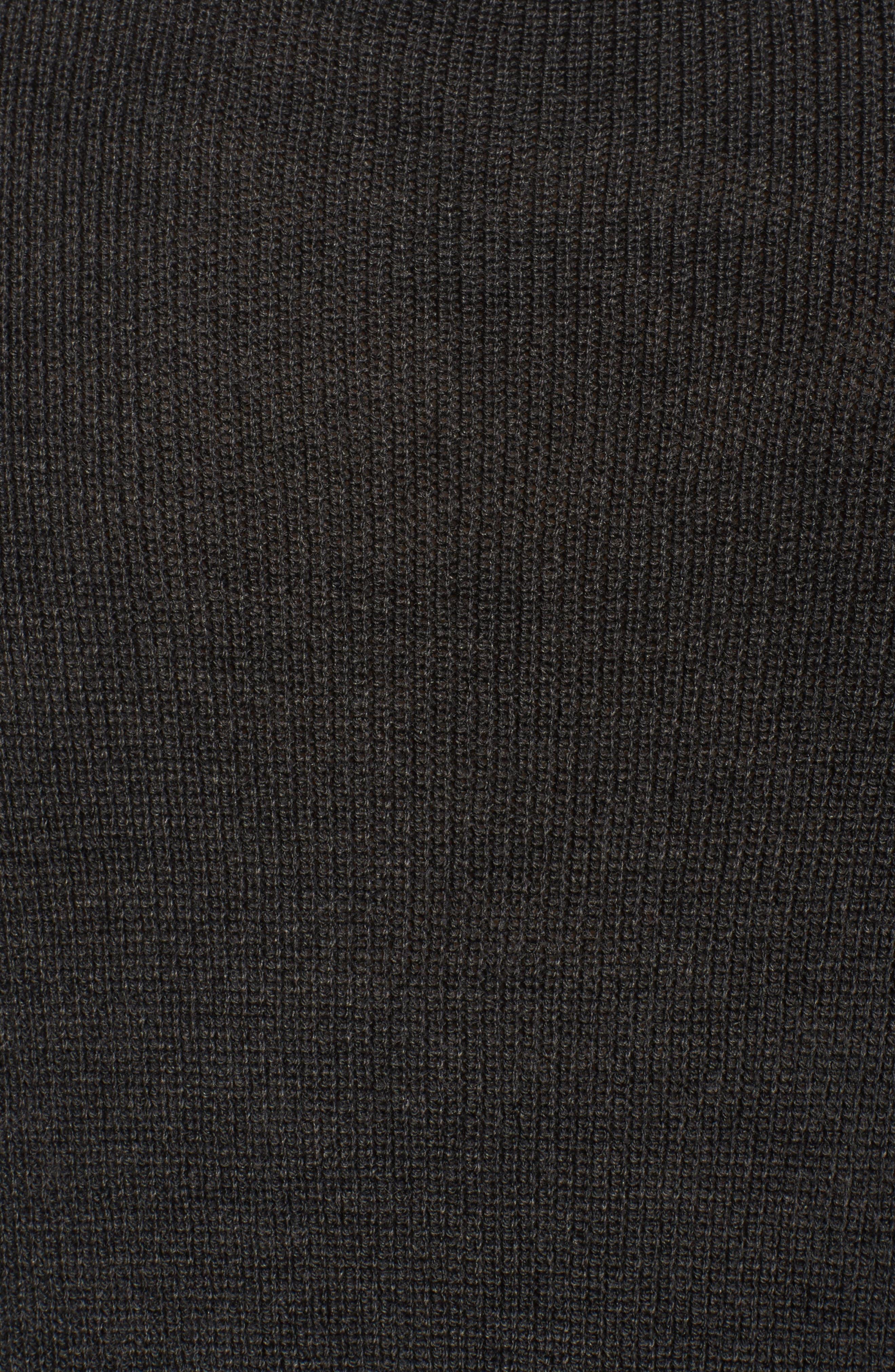 Alternate Image 5  - Sejour Cowl Neck Ribbed Trim Pullover (Plus Size)