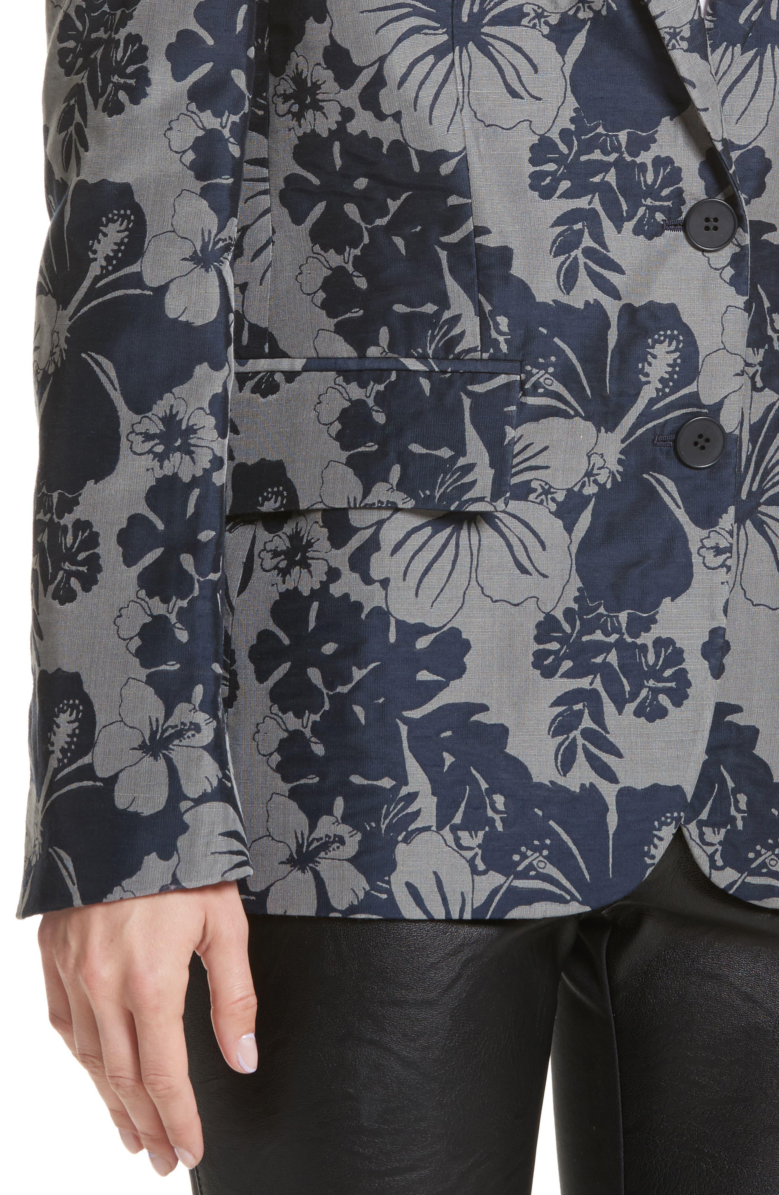 Alternate Image 4  - Stella McCartney Floral Jacquard Blazer