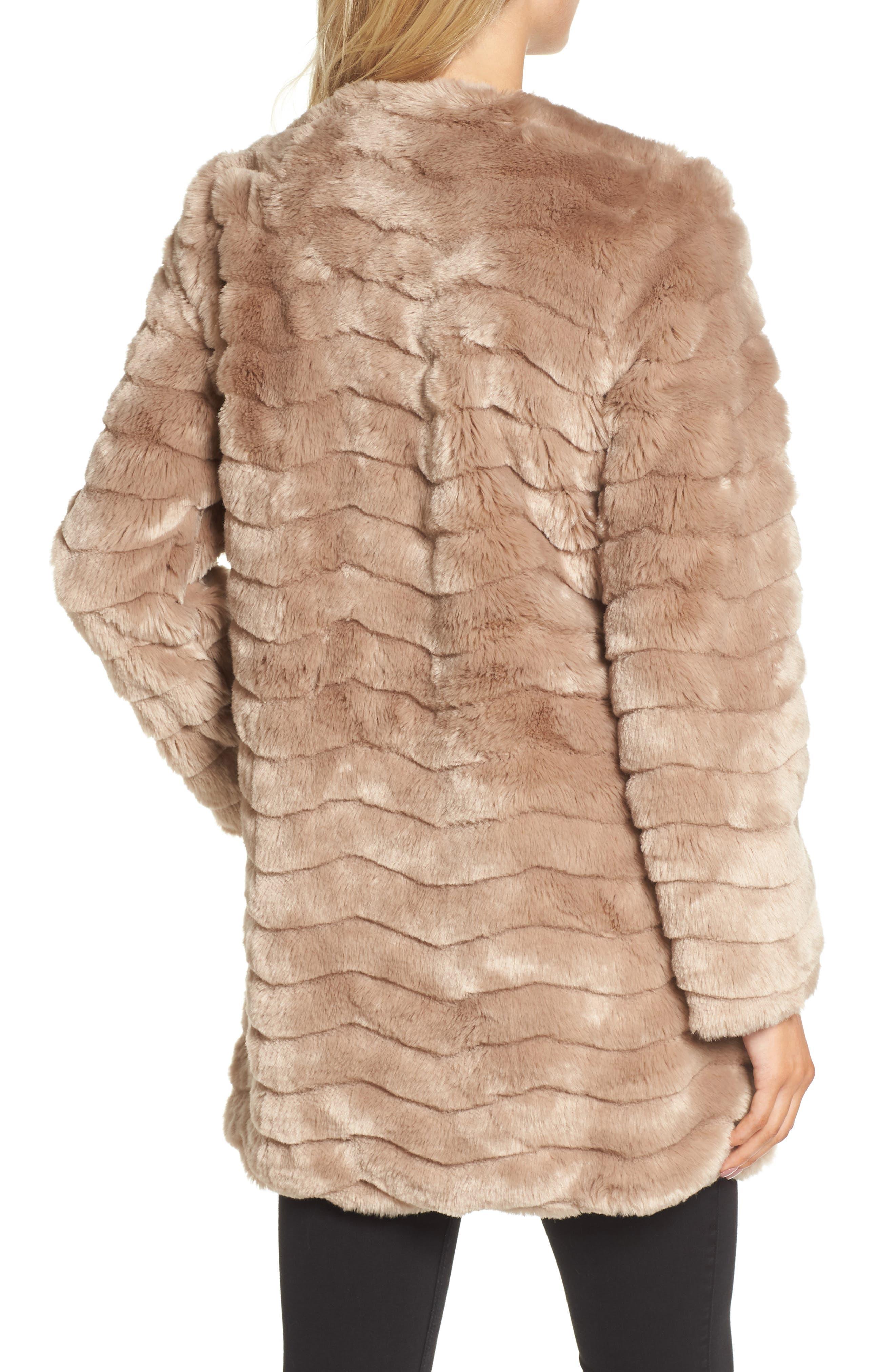 McCoy Faux Fur Coat,                             Alternate thumbnail 2, color,                             Camel
