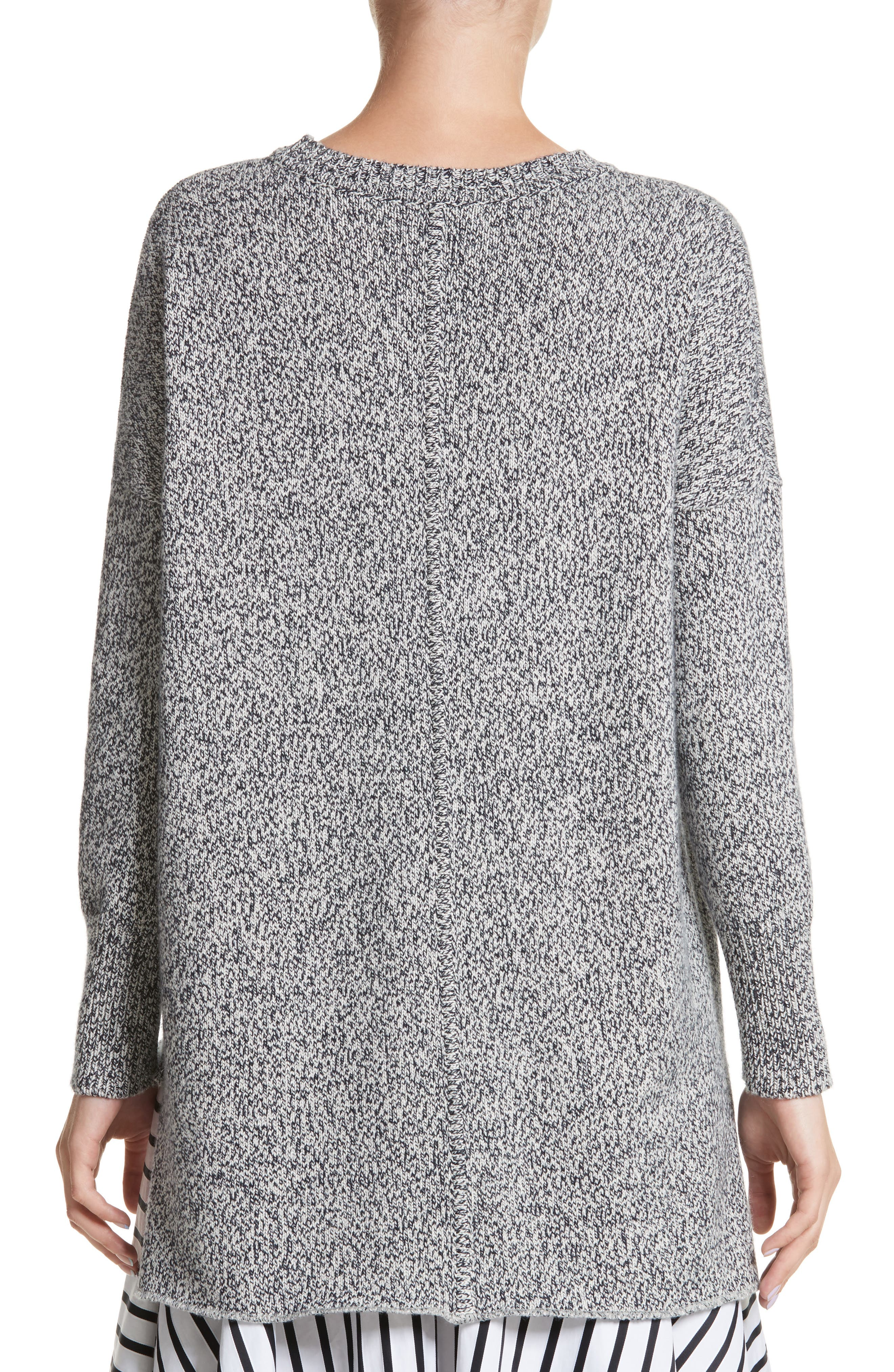 Alternate Image 2  - Adam Lippes Marled Cotton, Cashmere & Silk Sweater