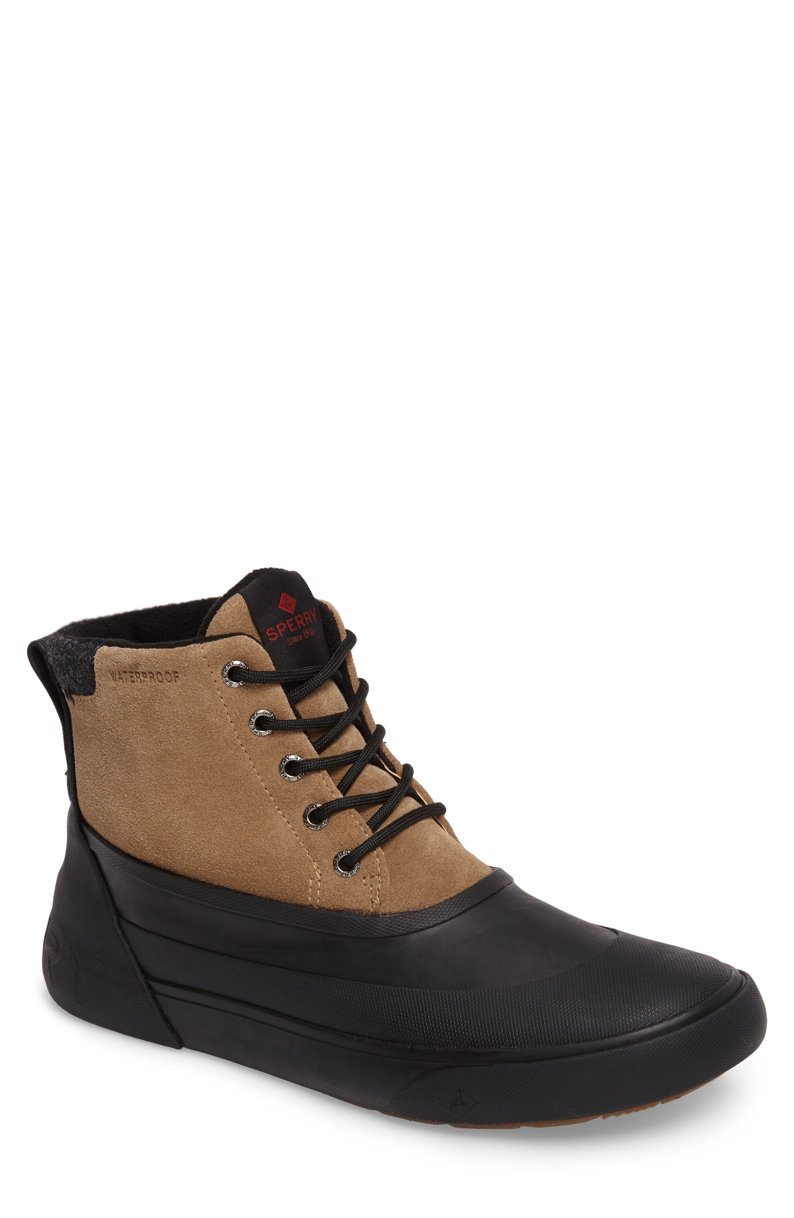 Cutwater Boot,                         Main,                         color, Noce/ Black