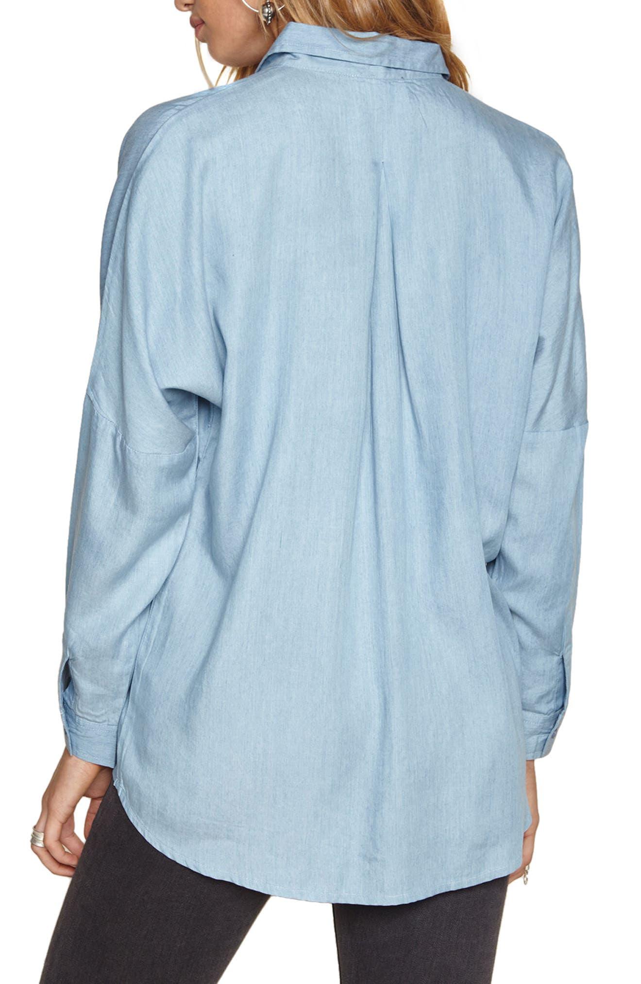 Casual Fridays Chambray Shirt,                             Alternate thumbnail 3, color,                             Blue Vintage