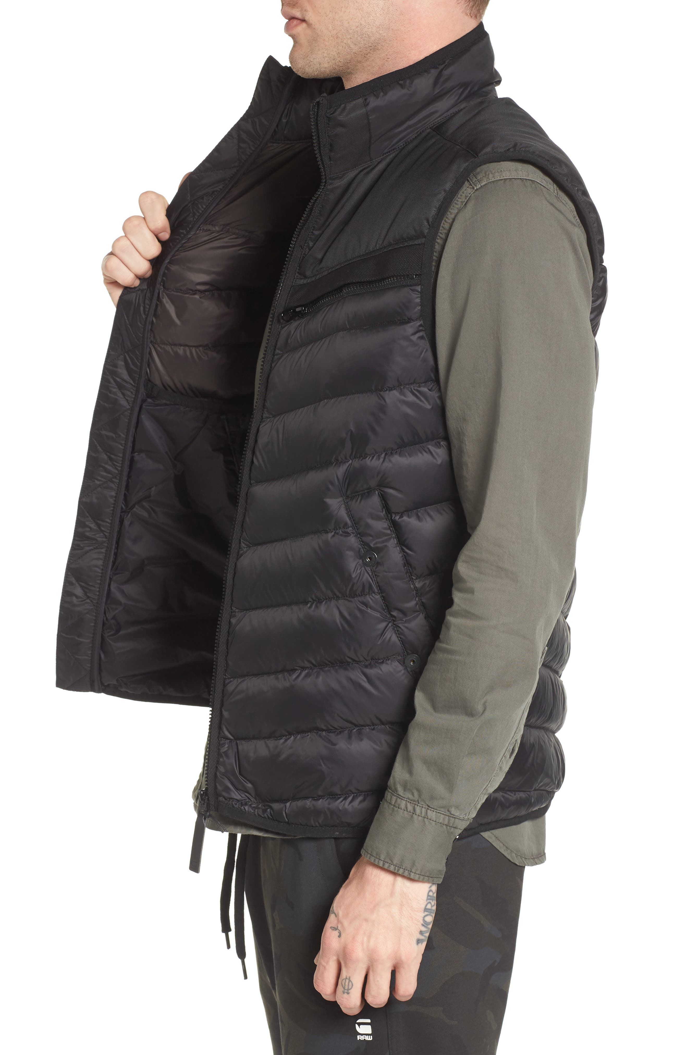 Attacc Down Vest,                             Alternate thumbnail 3, color,                             Black