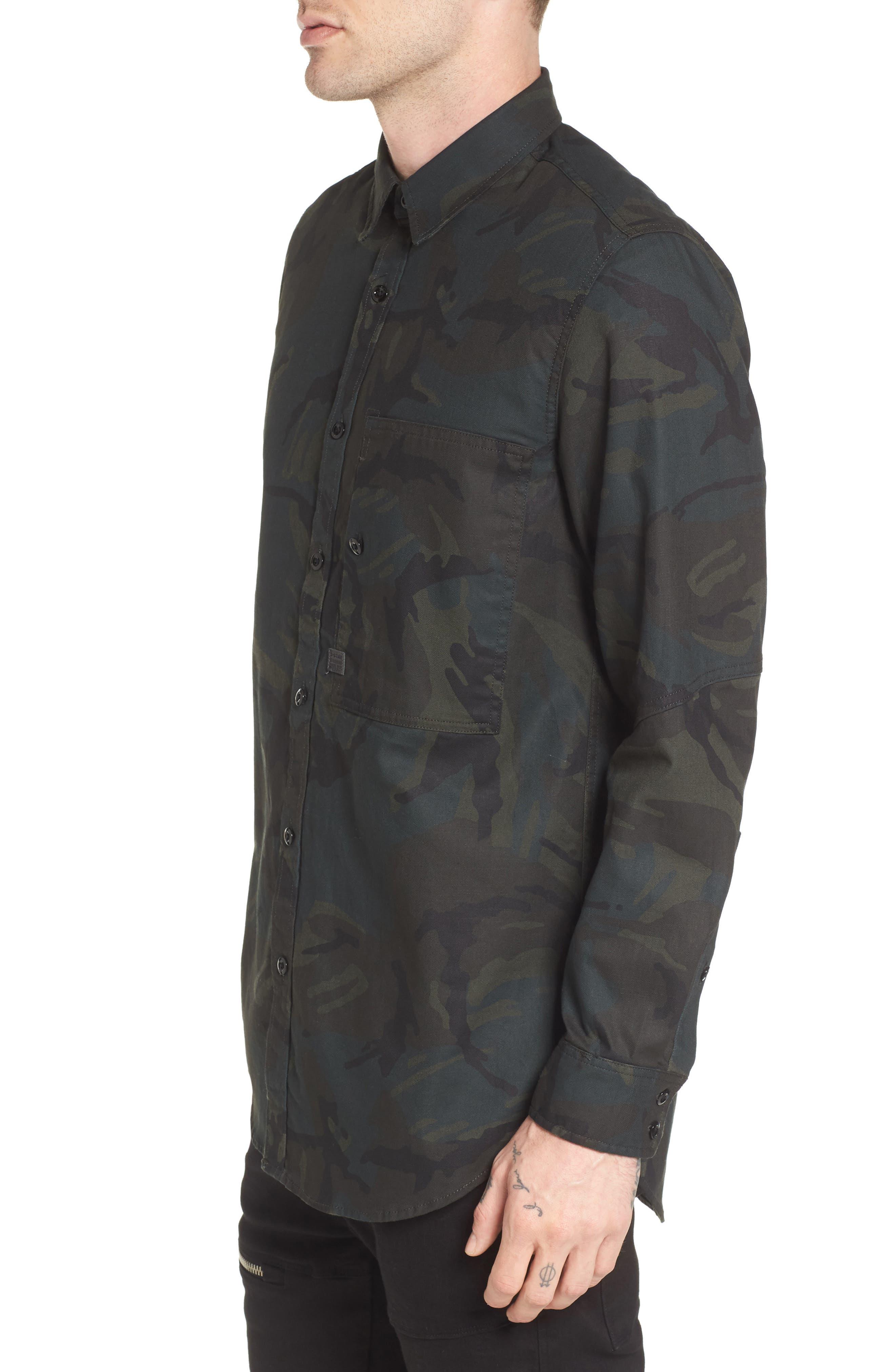 Stalt Long Sleeve Denim Shirt,                             Alternate thumbnail 3, color,                             Asphalt/ Black