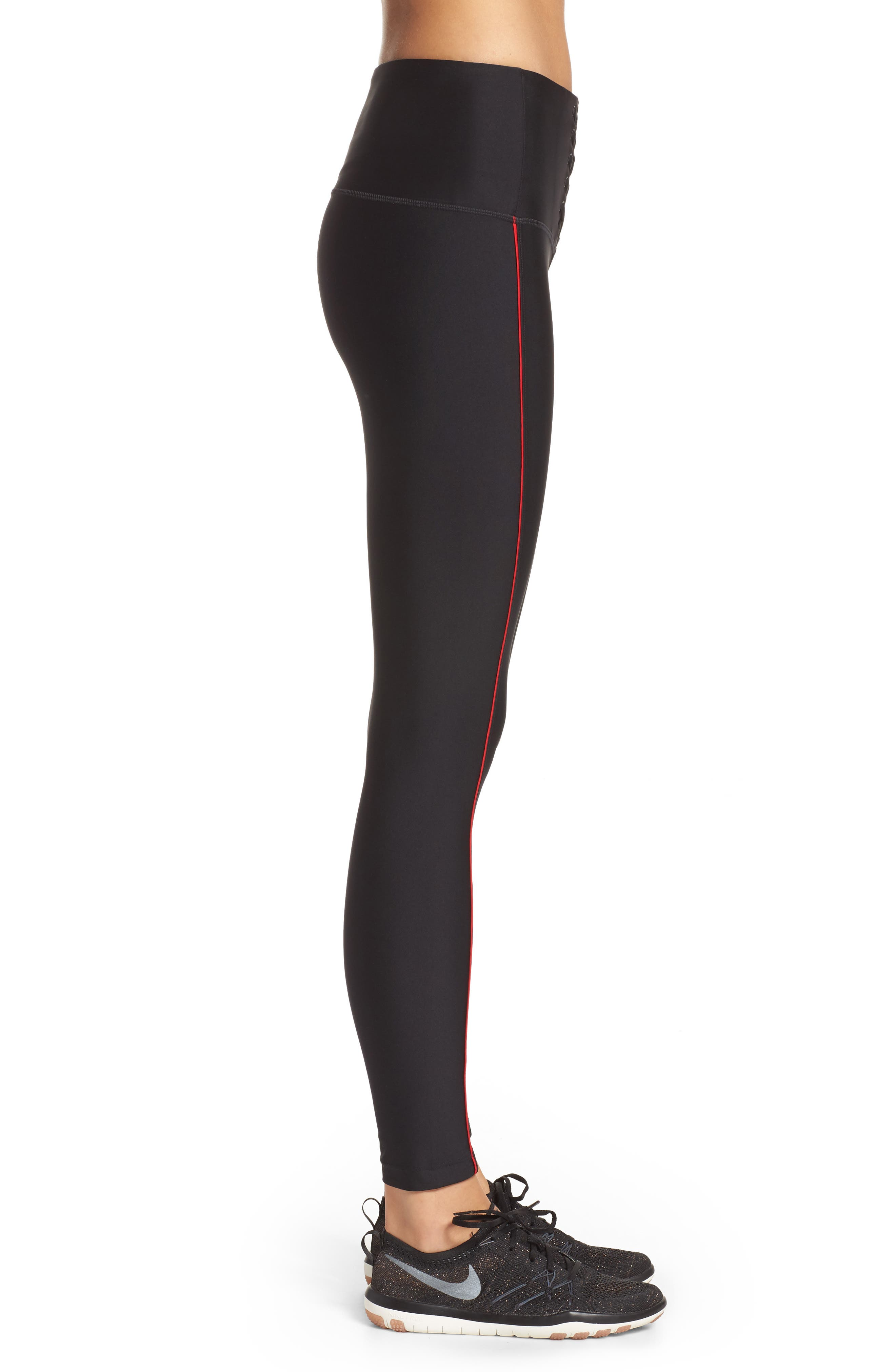 Alternate Image 3  - Zella High Waist Lace-Up Ankle Leggings