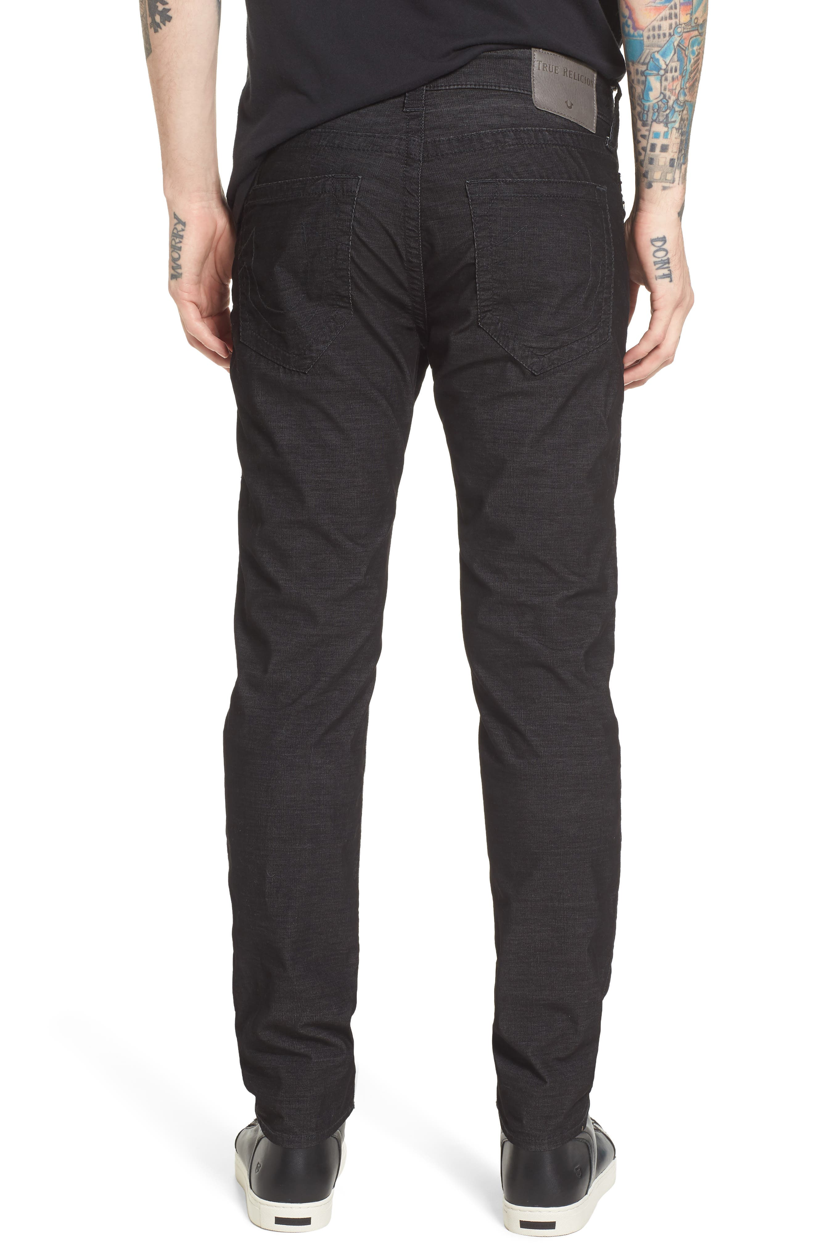 Rocco Skinny Fit Corduroy Jeans,                             Alternate thumbnail 2, color,                             Black