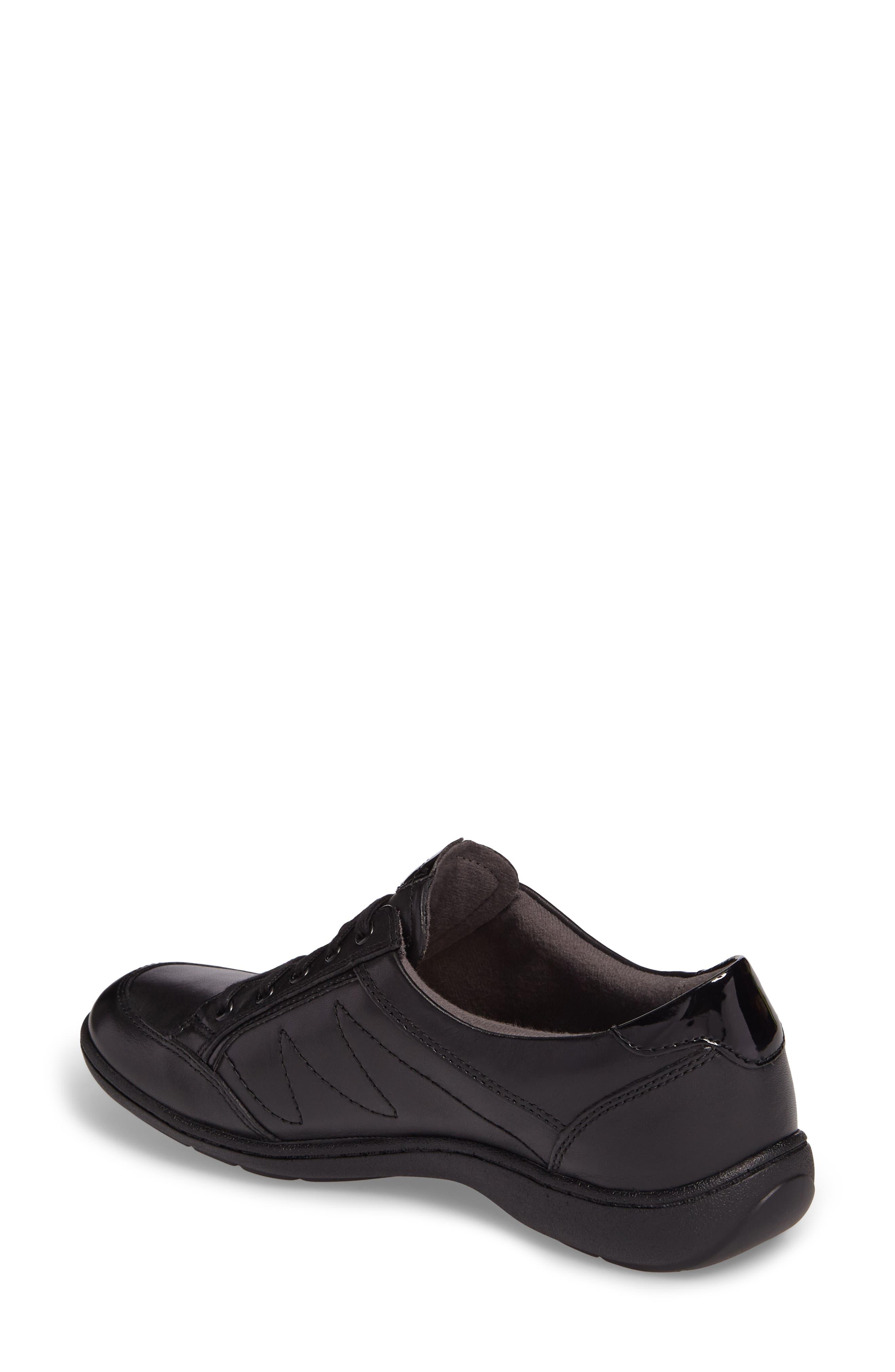Bromly Sneaker,                             Alternate thumbnail 2, color,                             Black Leather