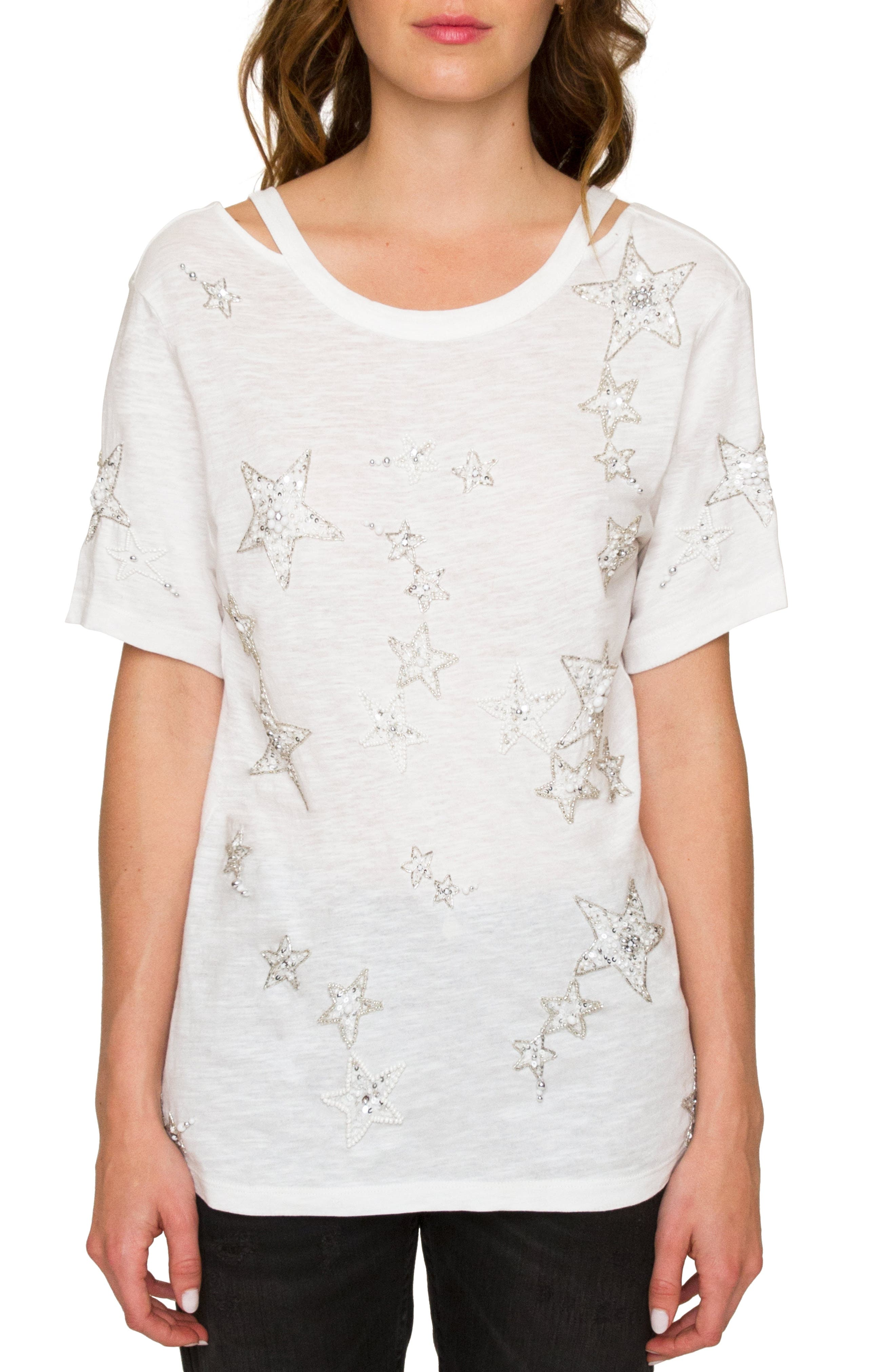 Willow & Clay Sequin Star Top