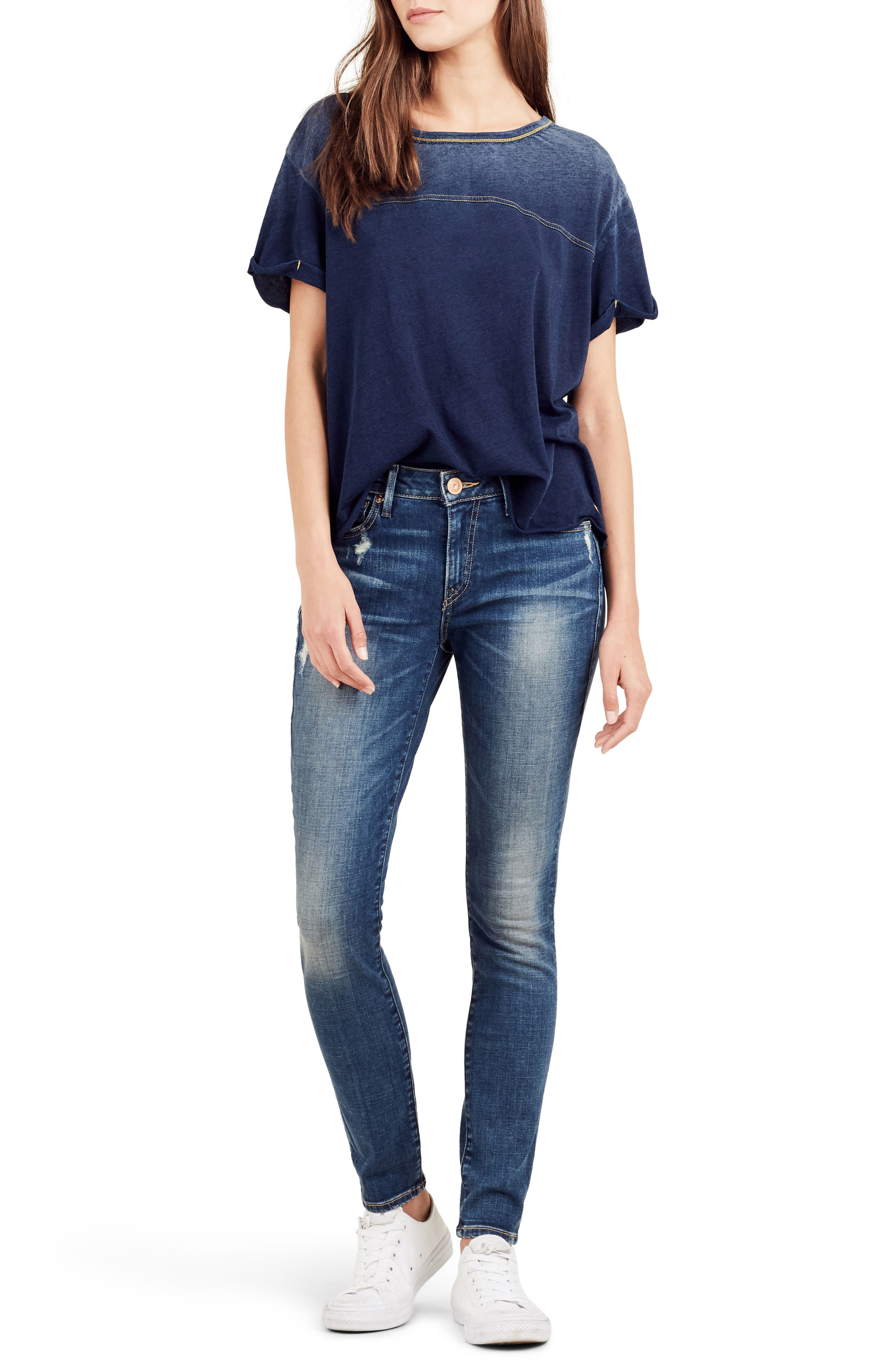 Alternate Image 2  - True Religion Brand Jeans Jennie Curvy Ankle Skinny Jeans (Bell Blues)