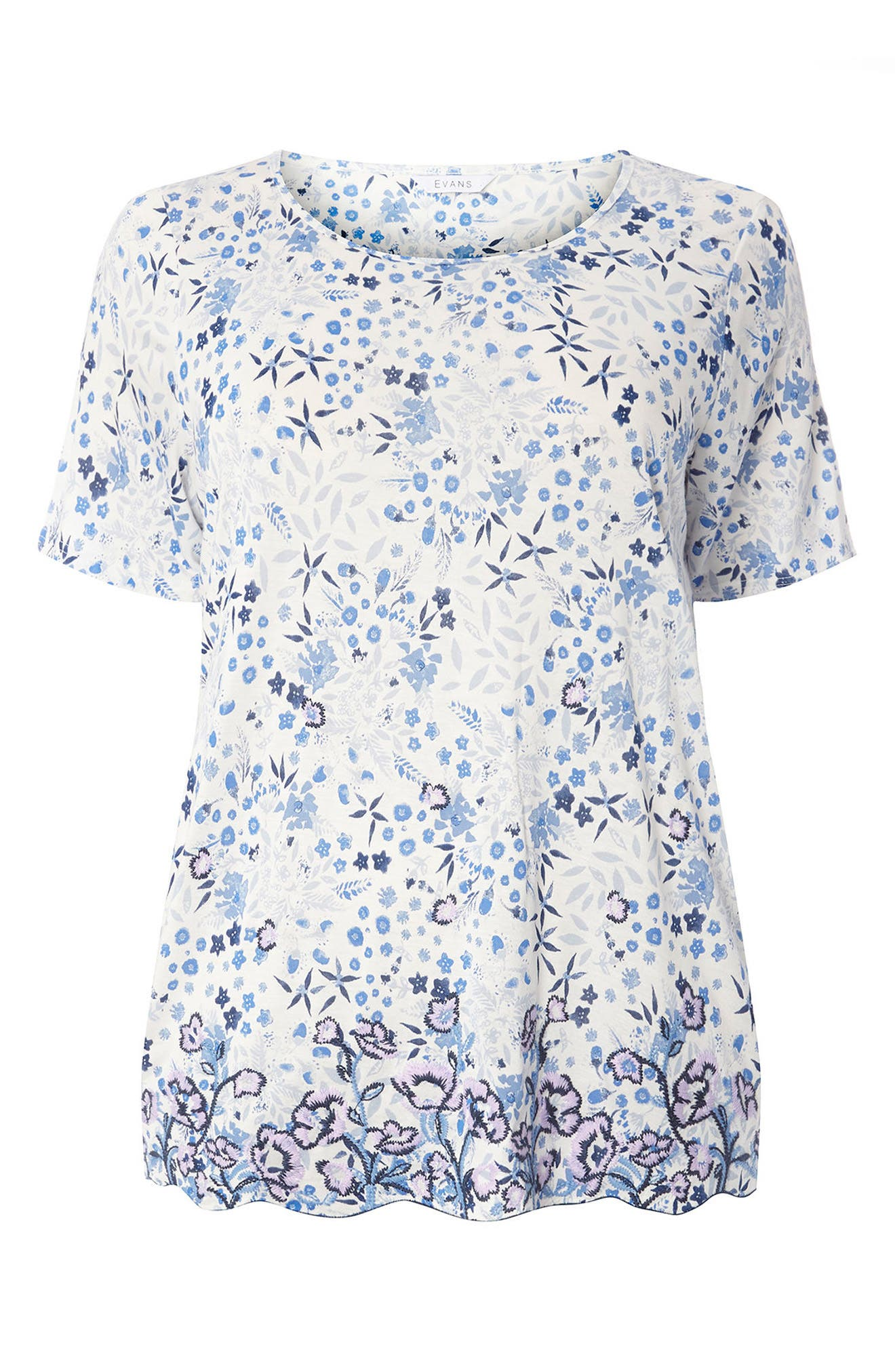 Evans Floral Print Top (Plus Size)