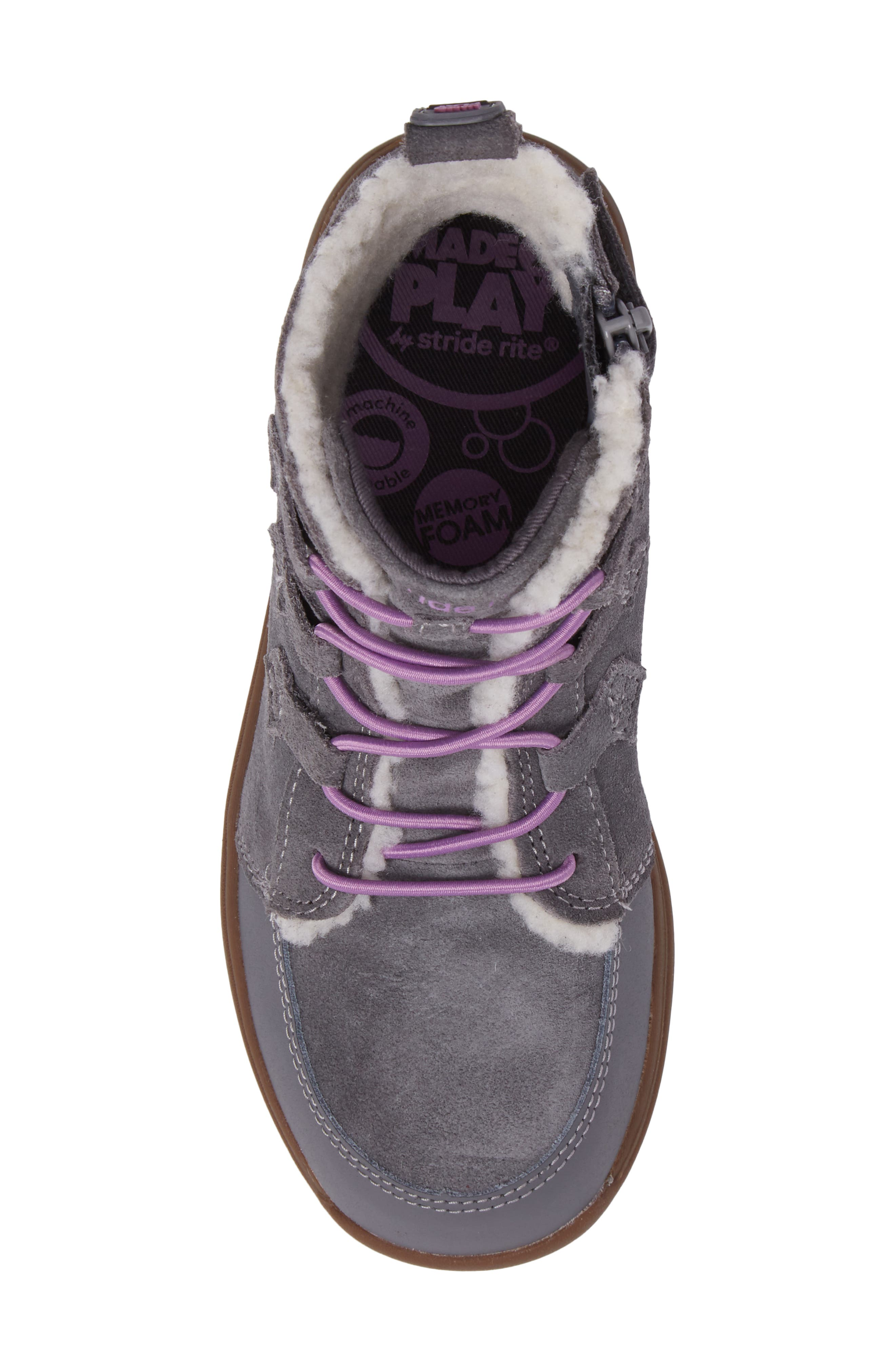 Alternate Image 5  - Stride Rite Made2Play® Washable Faux Fur Heather Bootie (Toddler & Little Kid)