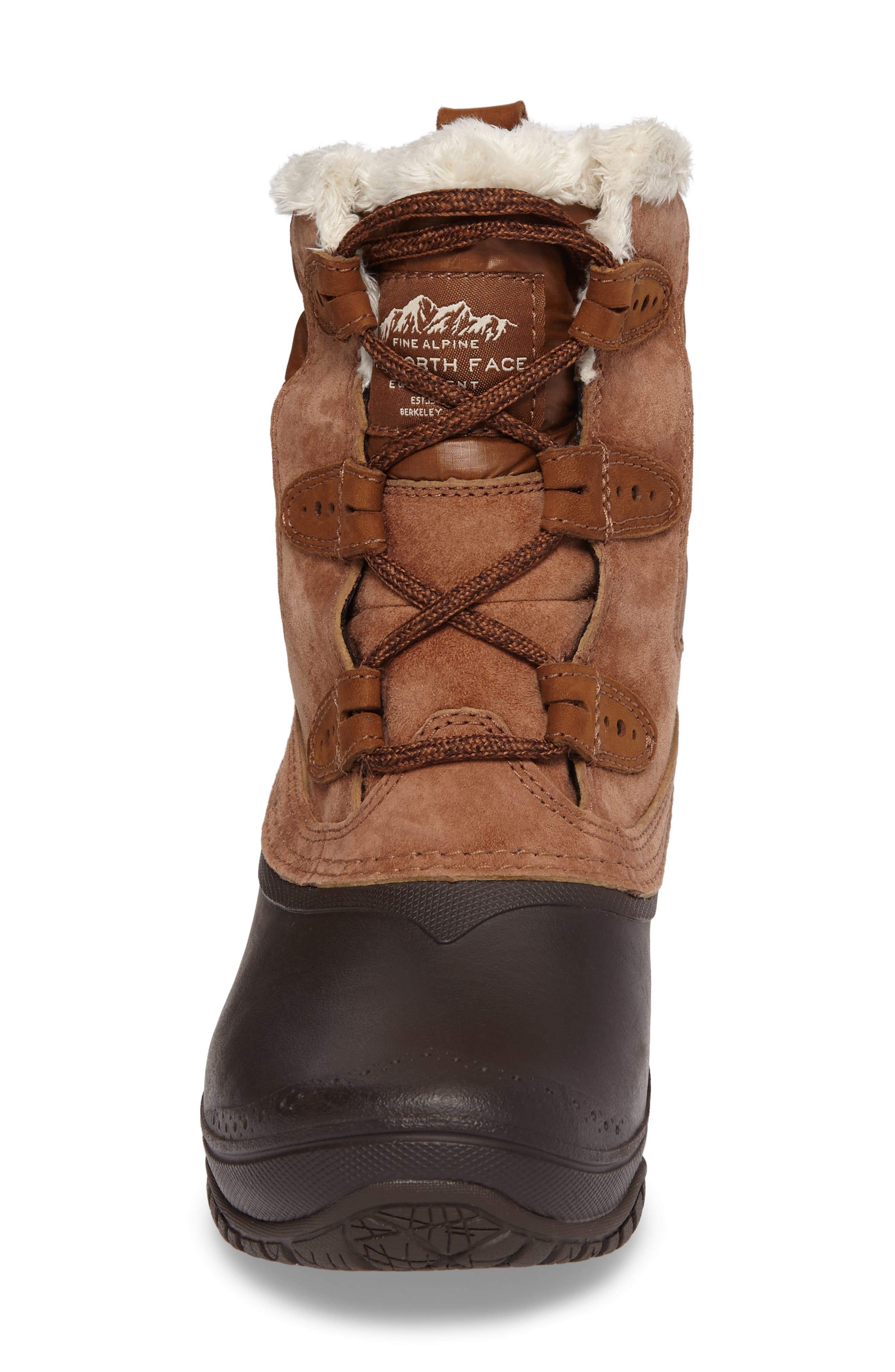 Shellista II Waterproof Boot,                             Alternate thumbnail 5, color,                             Dachshund Brown/ Vintage White