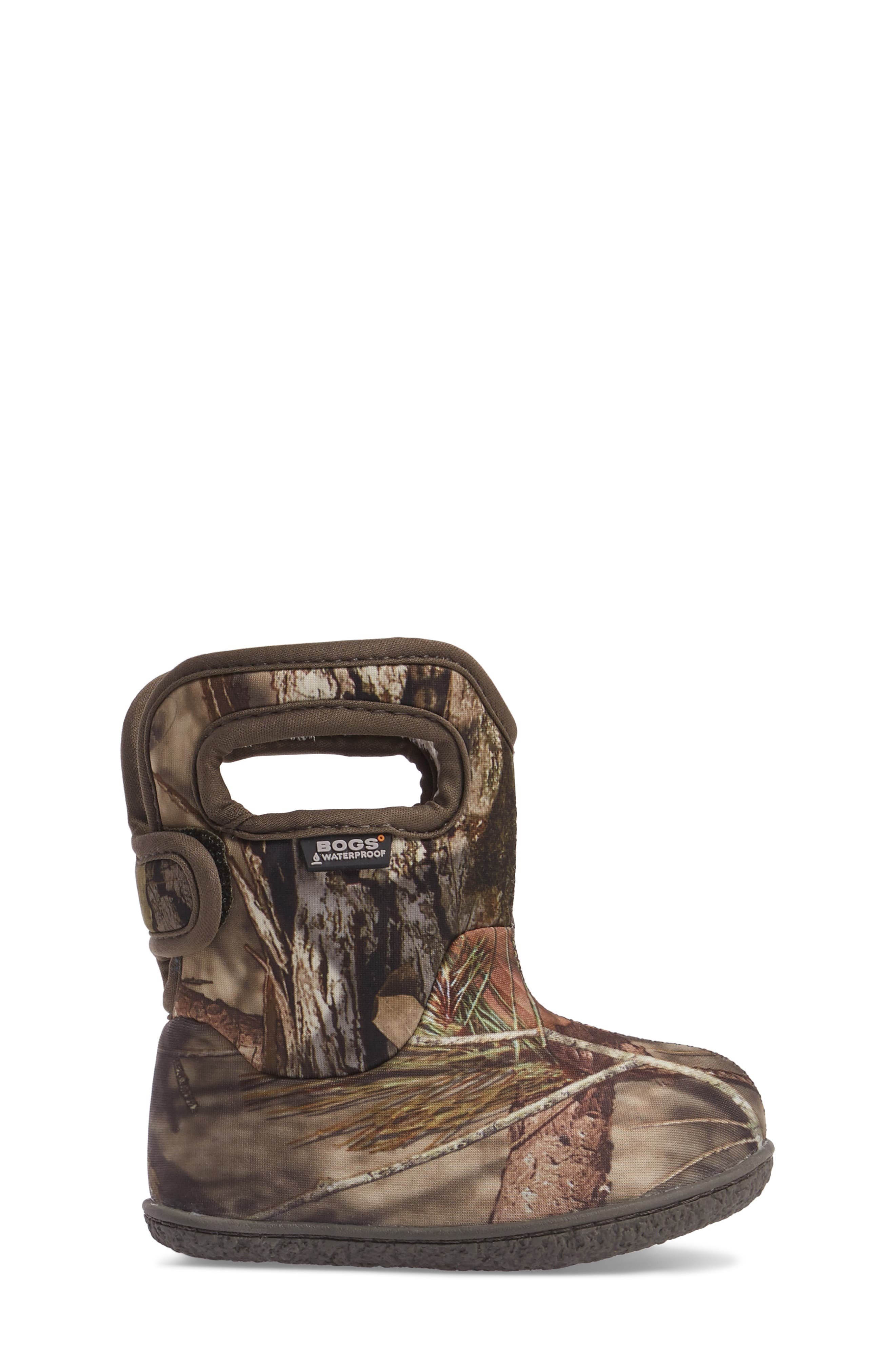 Baby Bogs Classic Camo Insulated Waterproof Boot,                             Alternate thumbnail 3, color,                             Mossy Oak Country