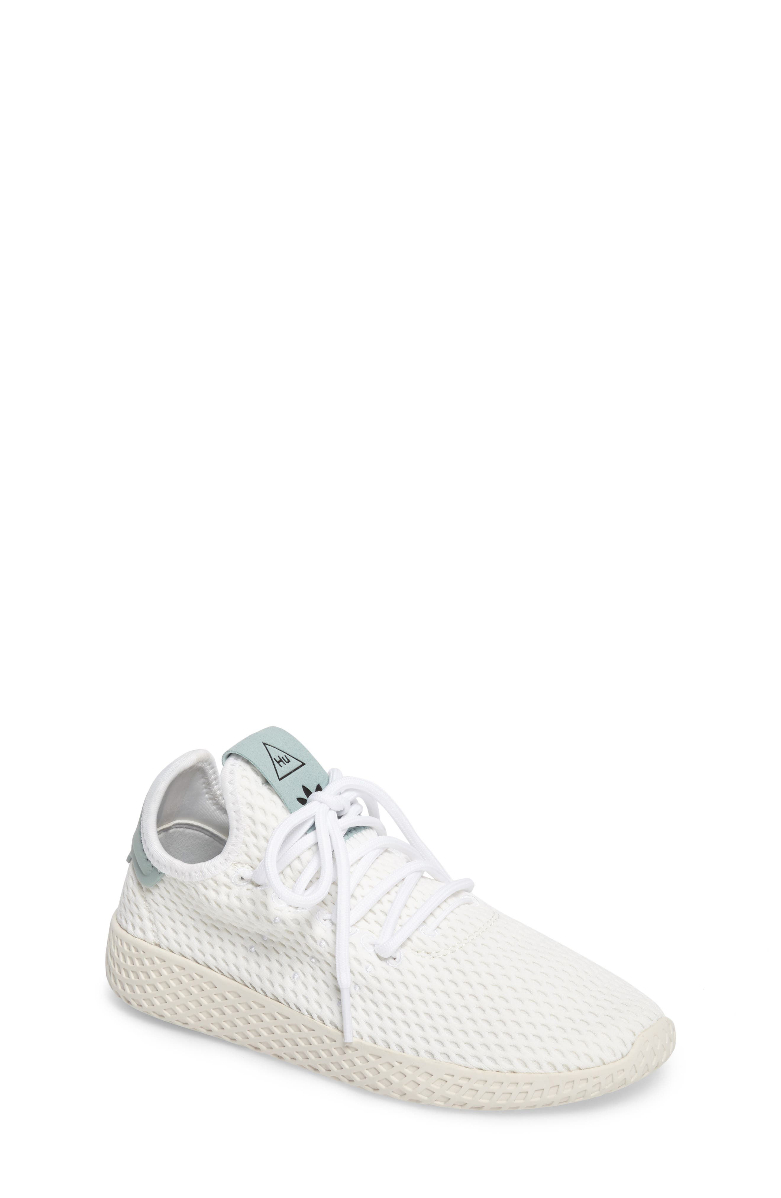Originals x Pharrell Williams The Summers Mesh Sneaker,                             Main thumbnail 1, color,                             Footwear White/ Linen Green