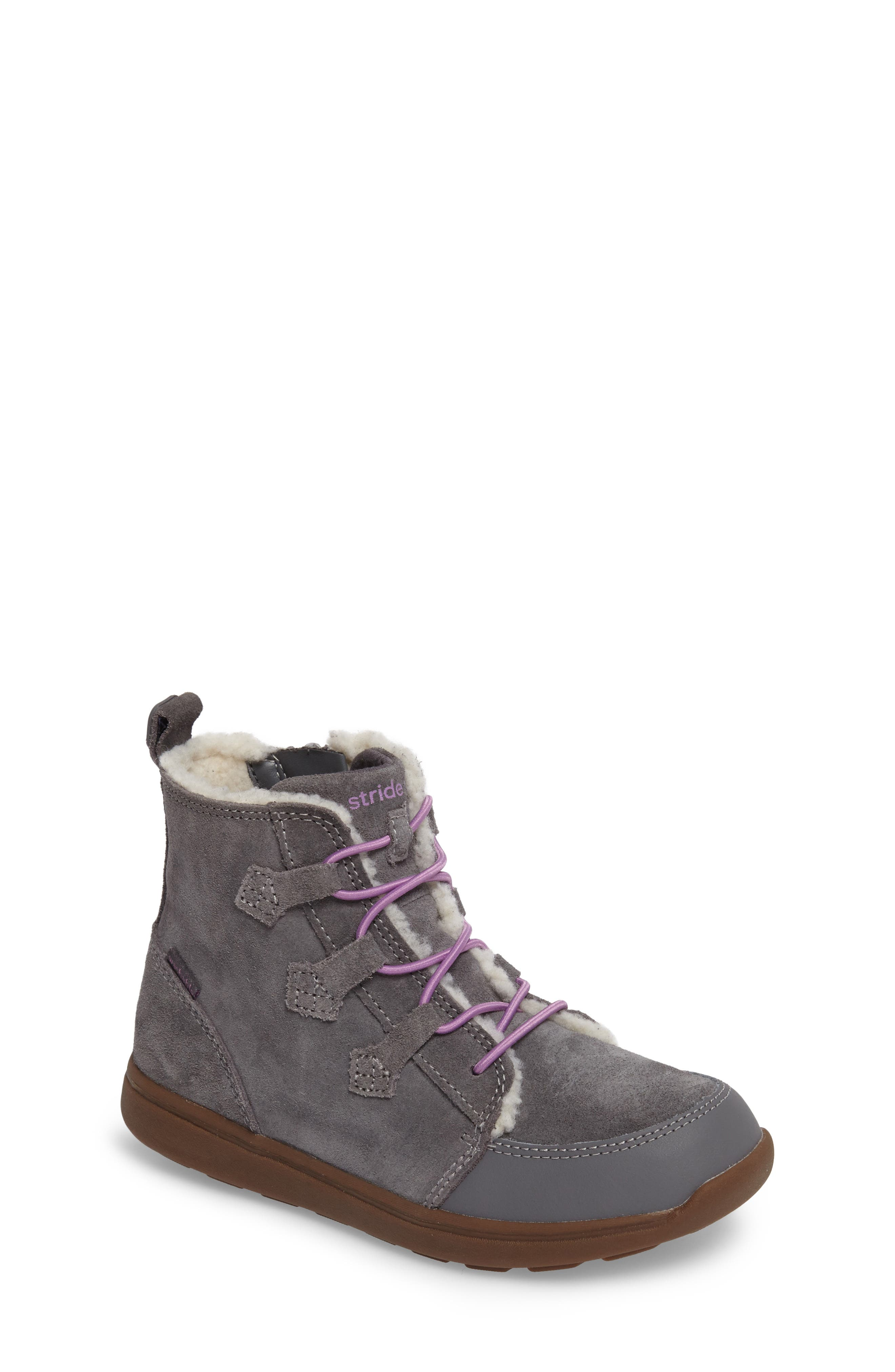 Main Image - Stride Rite Made2Play® Washable Faux Fur Heather Bootie (Toddler & Little Kid)