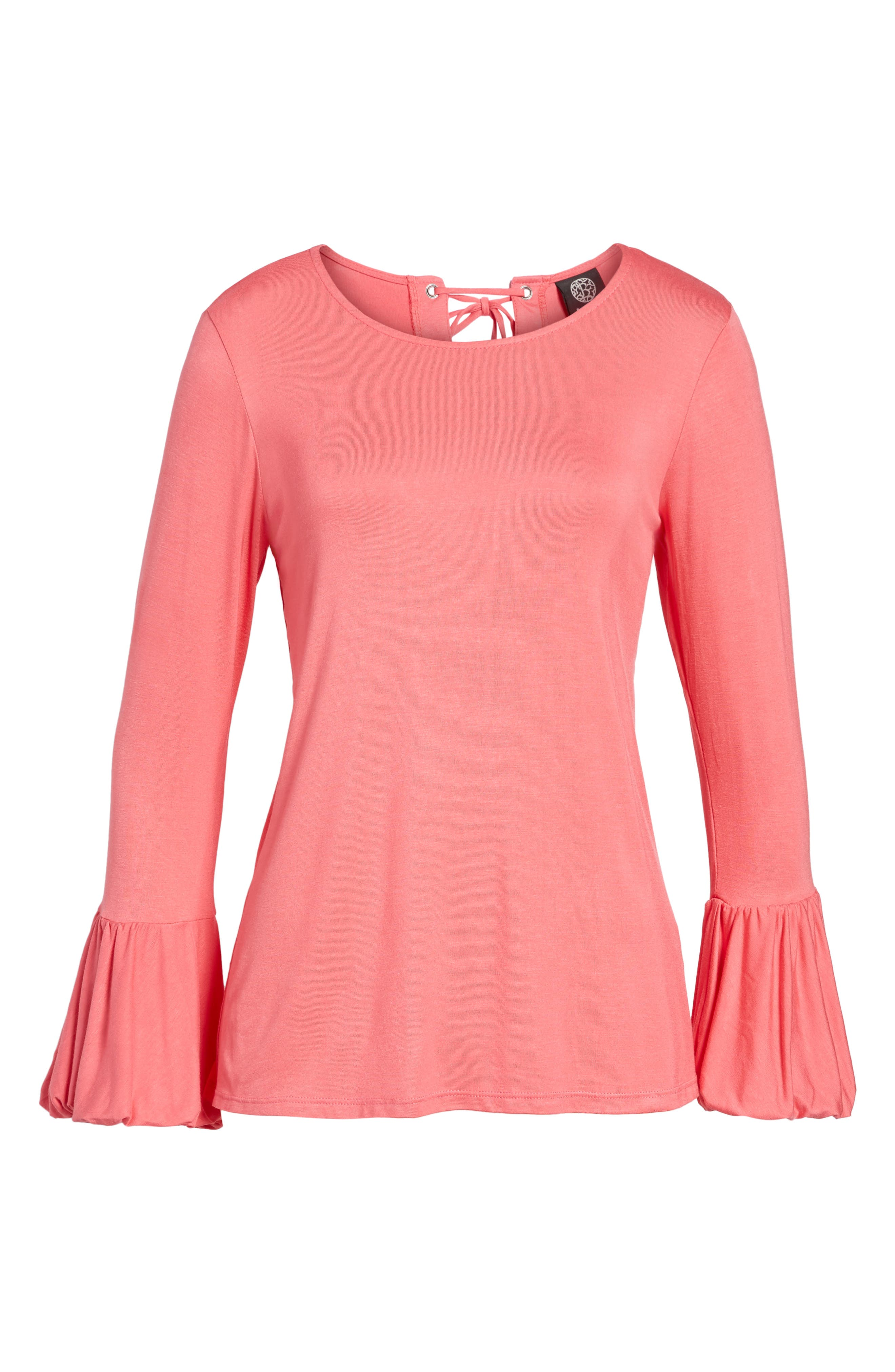 Alternate Image 6  - Bobeau Bell Sleeve Top