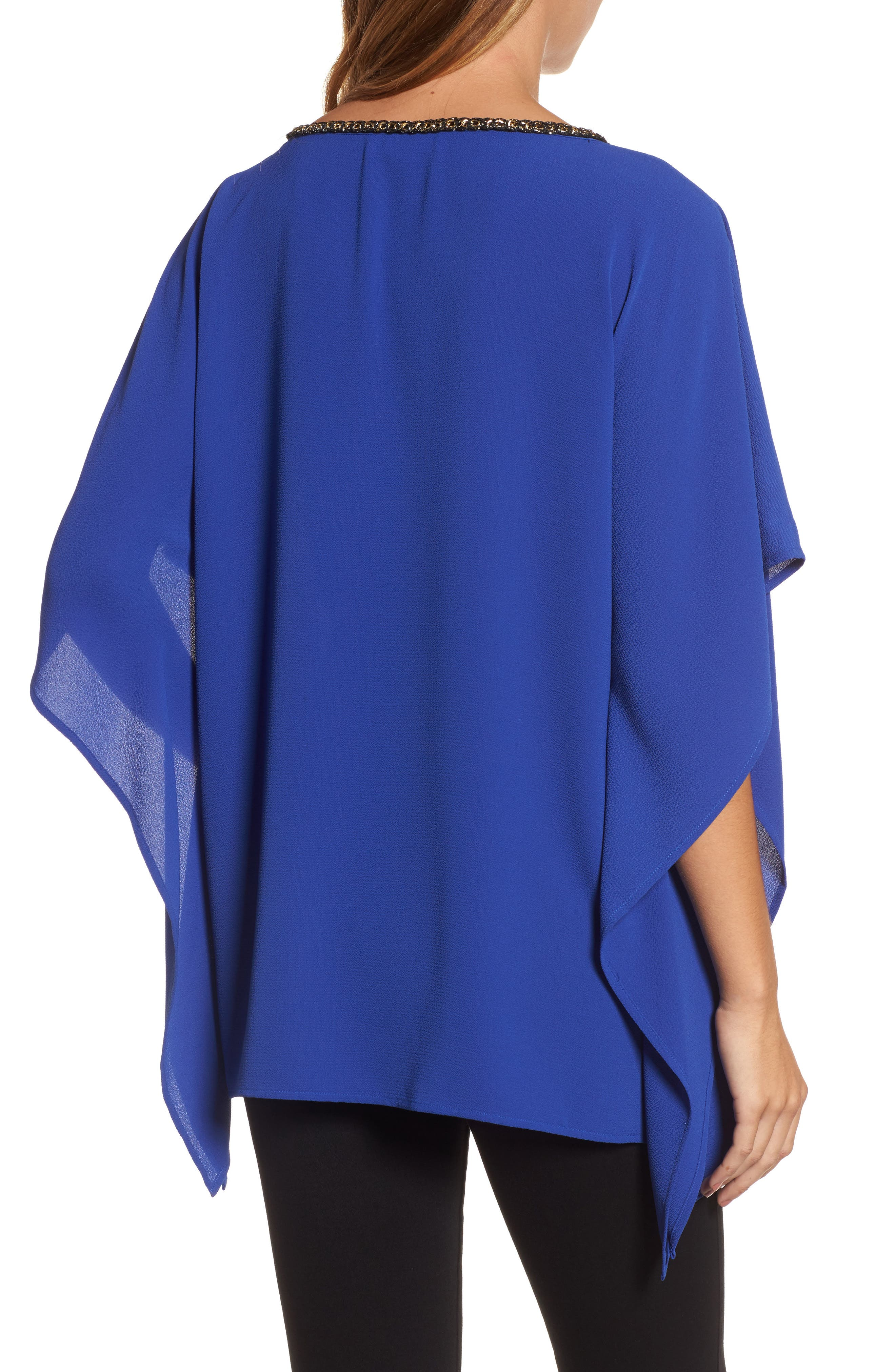 Chain Neck Top,                             Alternate thumbnail 2, color,                             Bright Royal