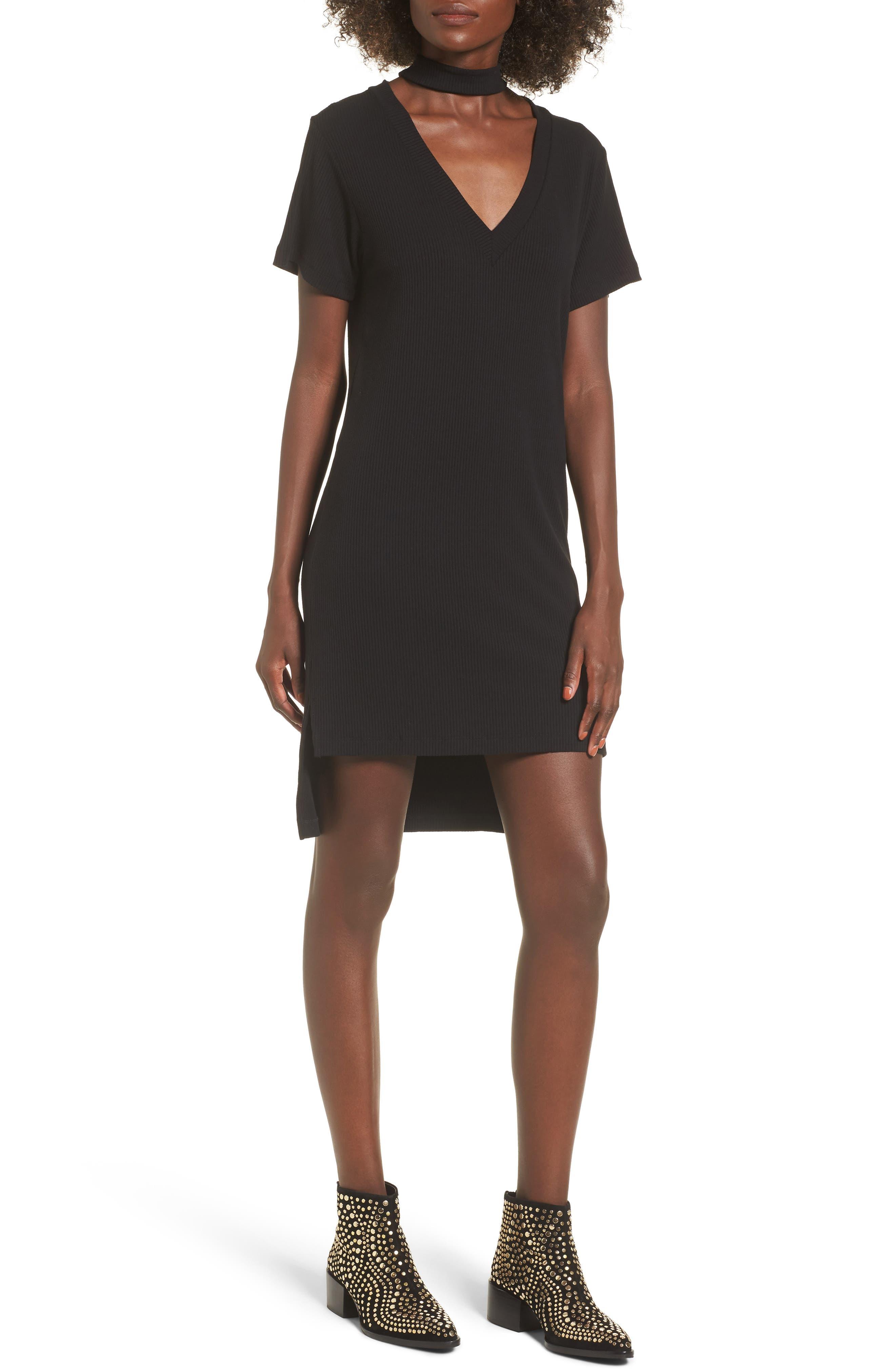 Klassen Choker Dress,                         Main,                         color, Black