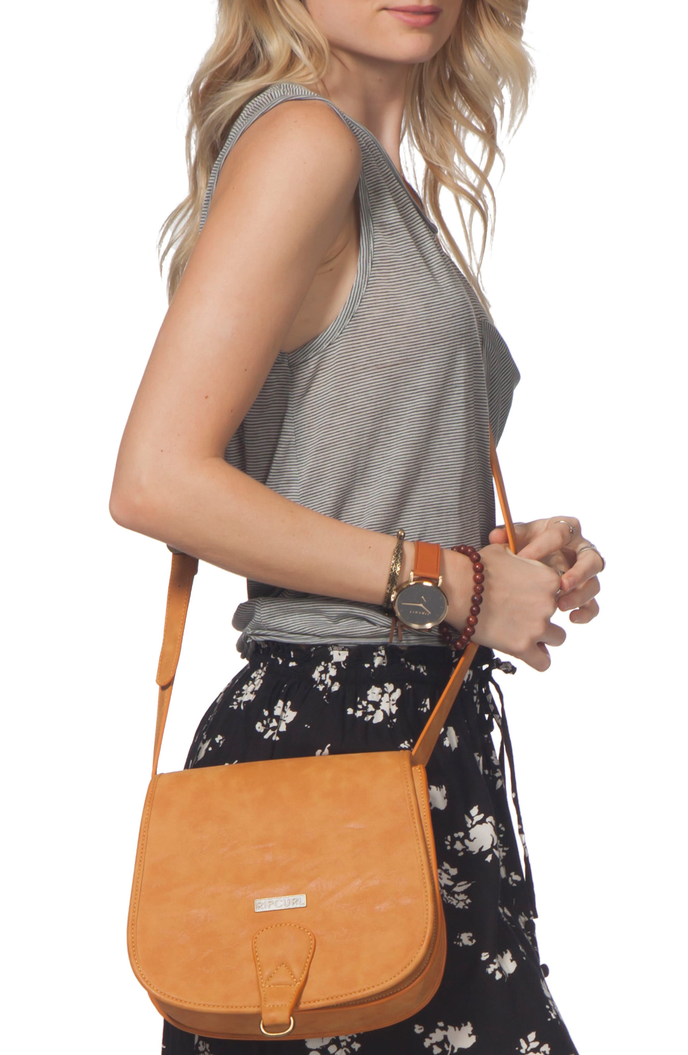 Rip Curl Paradise Faux Leather Saddle Bag