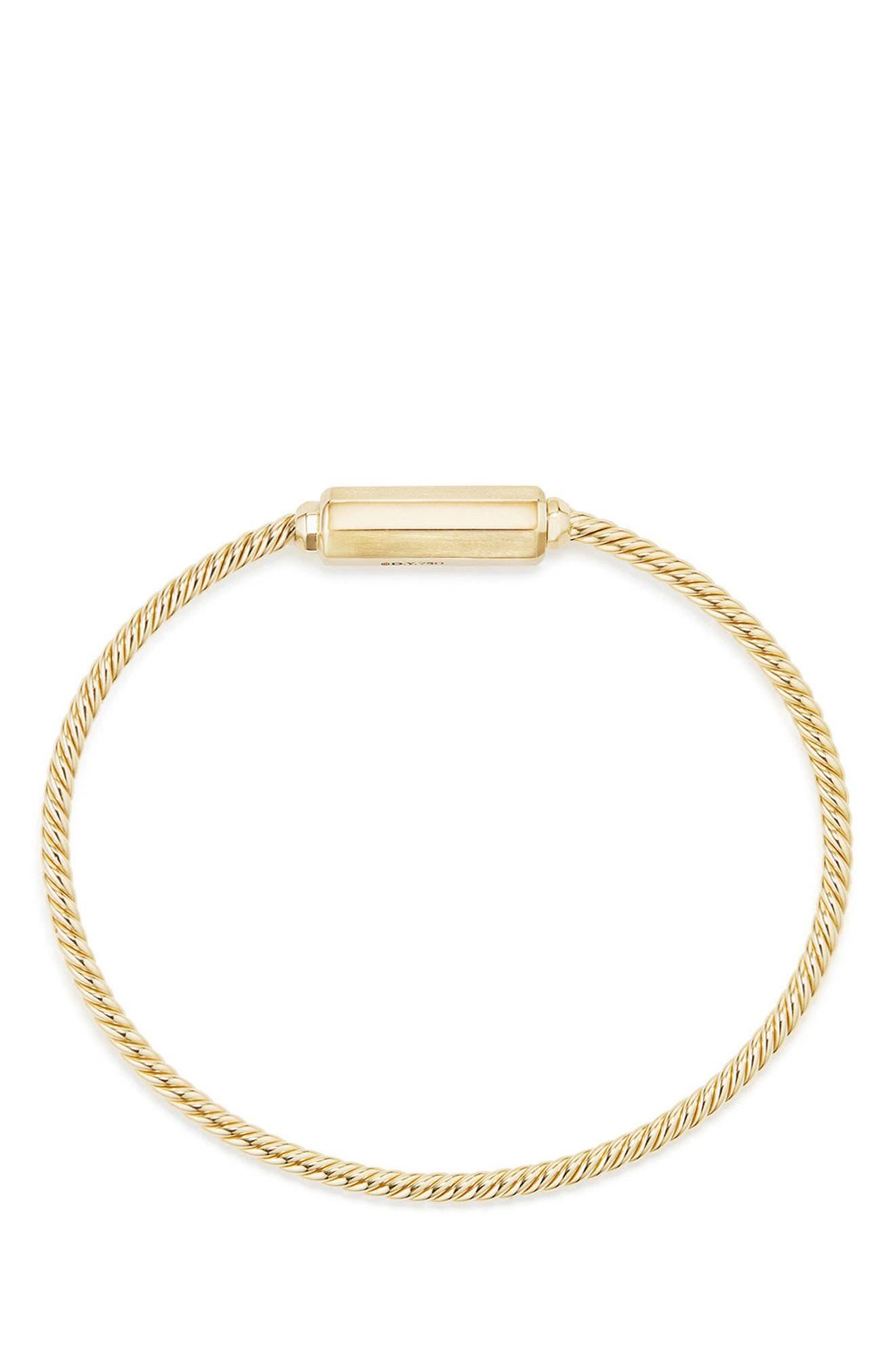 Alternate Image 2  - David Yurman Barrels Bracelet with Diamonds in 18K Gold