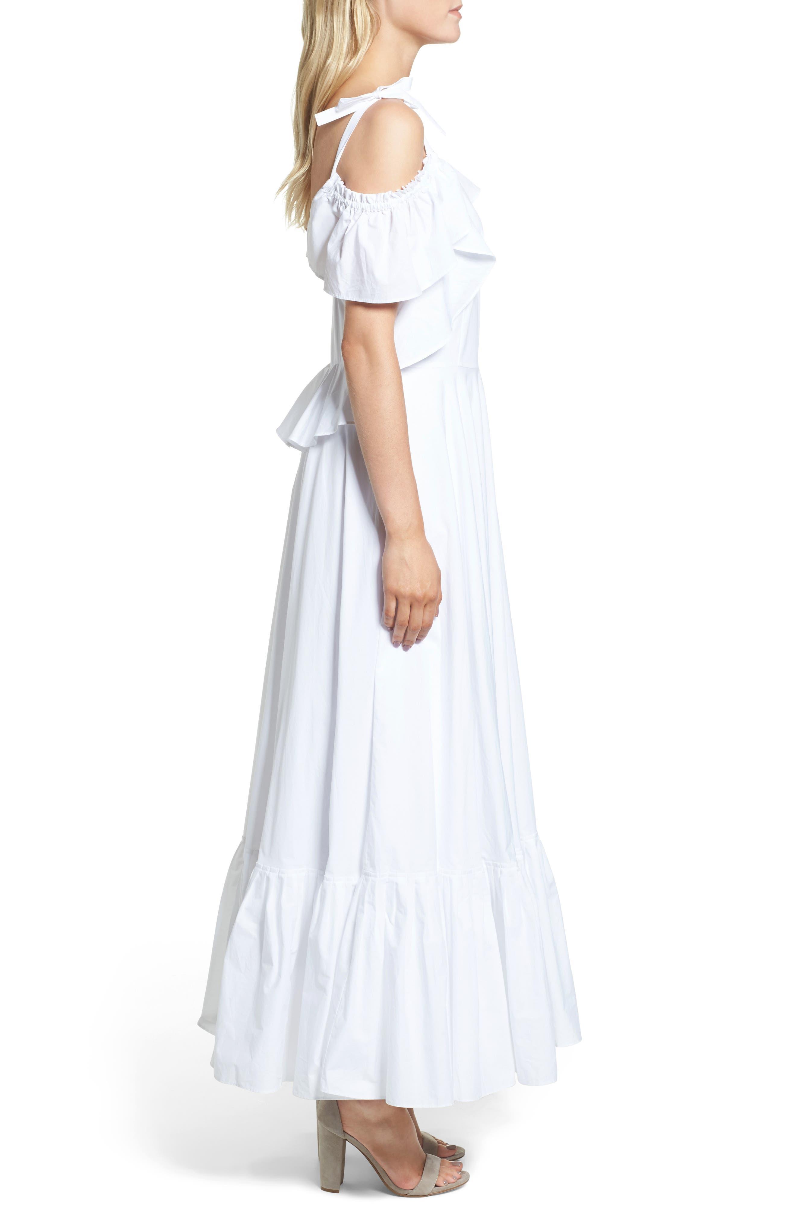 Lake Como Maxi Dress,                             Alternate thumbnail 3, color,                             White