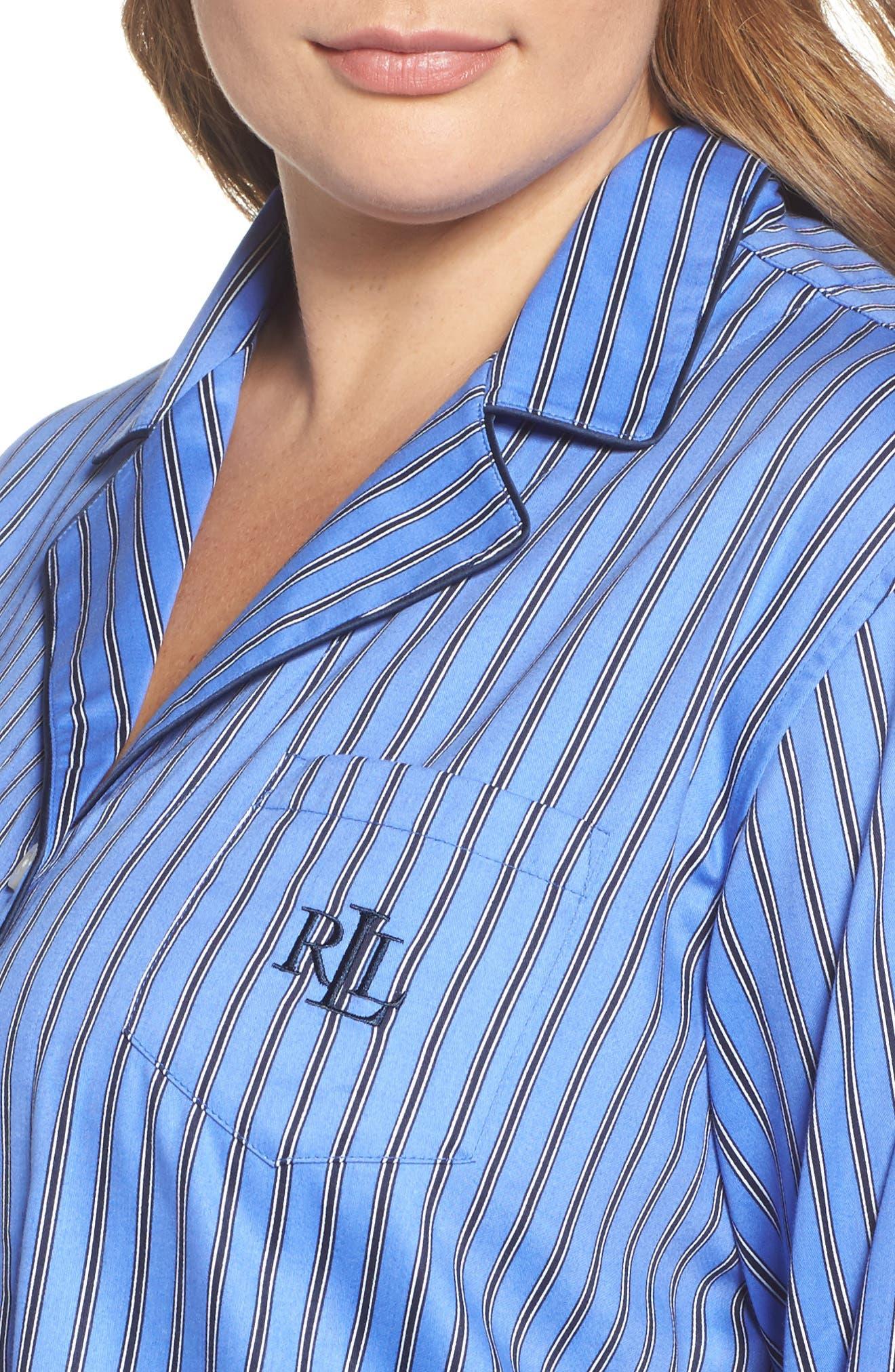 Alternate Image 5  - Lauren Ralph Lauren Pajamas (Plus Size)