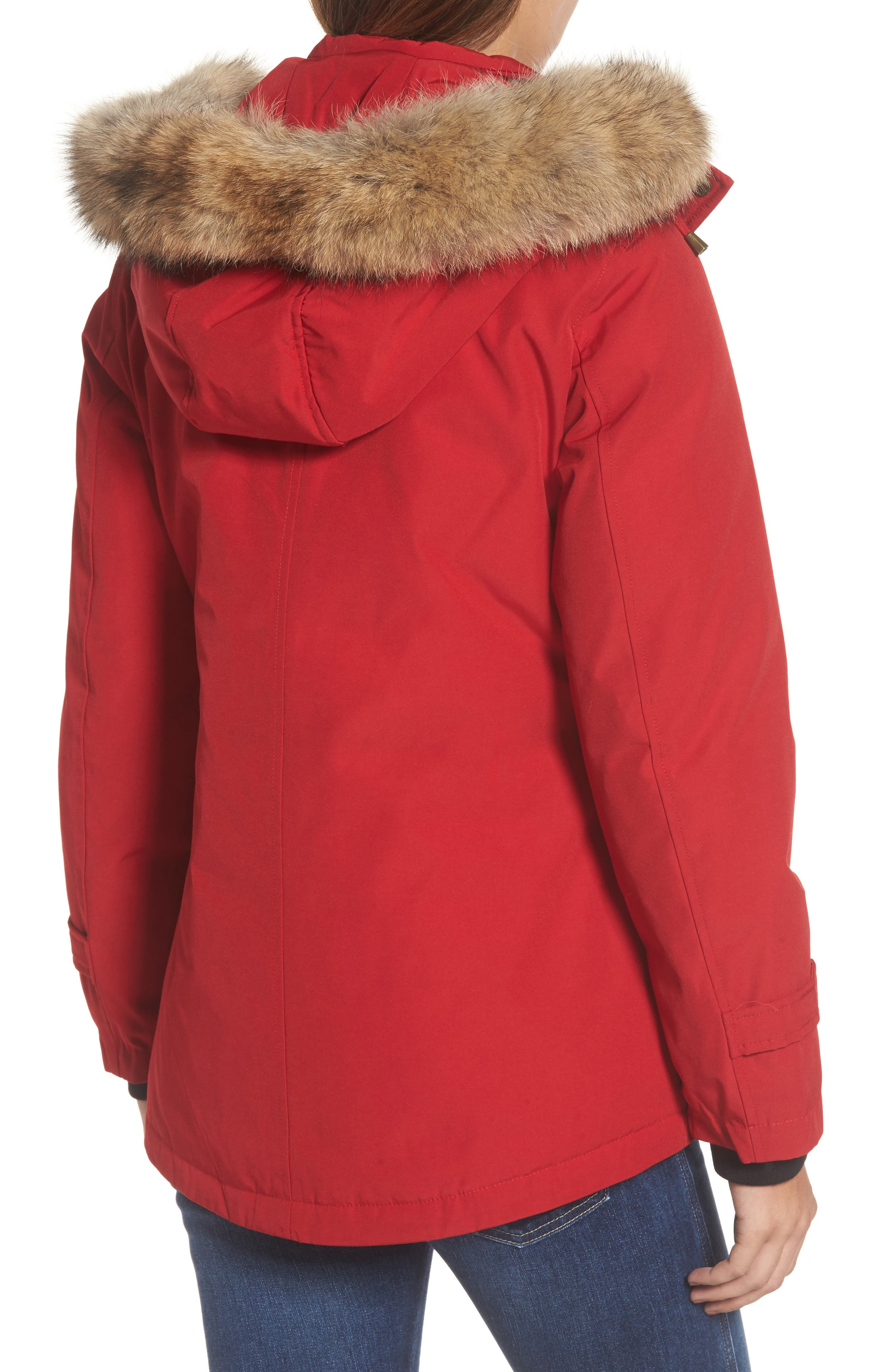 Alternate Image 2  - Pendleton Bachelor Water Repellent Hooded Down Parka with Genuine Coyote Fur Trim