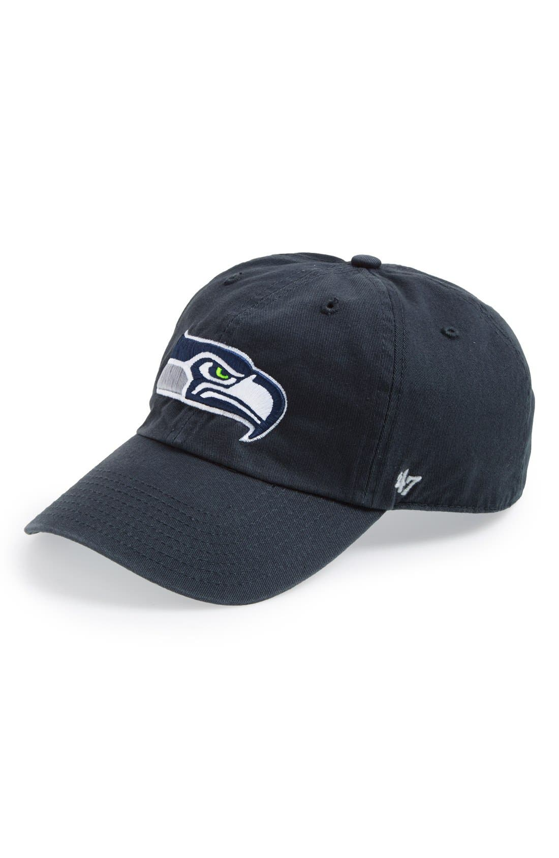 'Seattle Seahawks - Clean Up' Cap,                             Main thumbnail 1, color,                             Navy