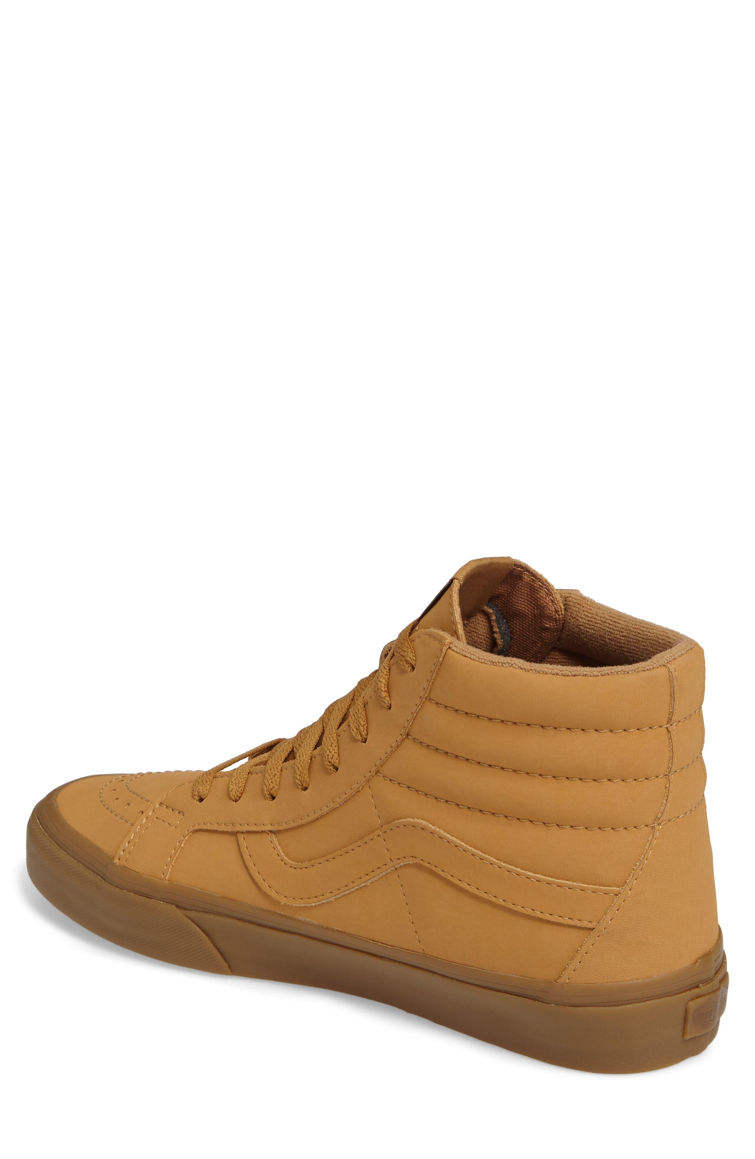 'Sk8-Hi Reissue' Sneaker,                             Alternate thumbnail 2, color,                             Light Gum/ Mono Canvas/Leather