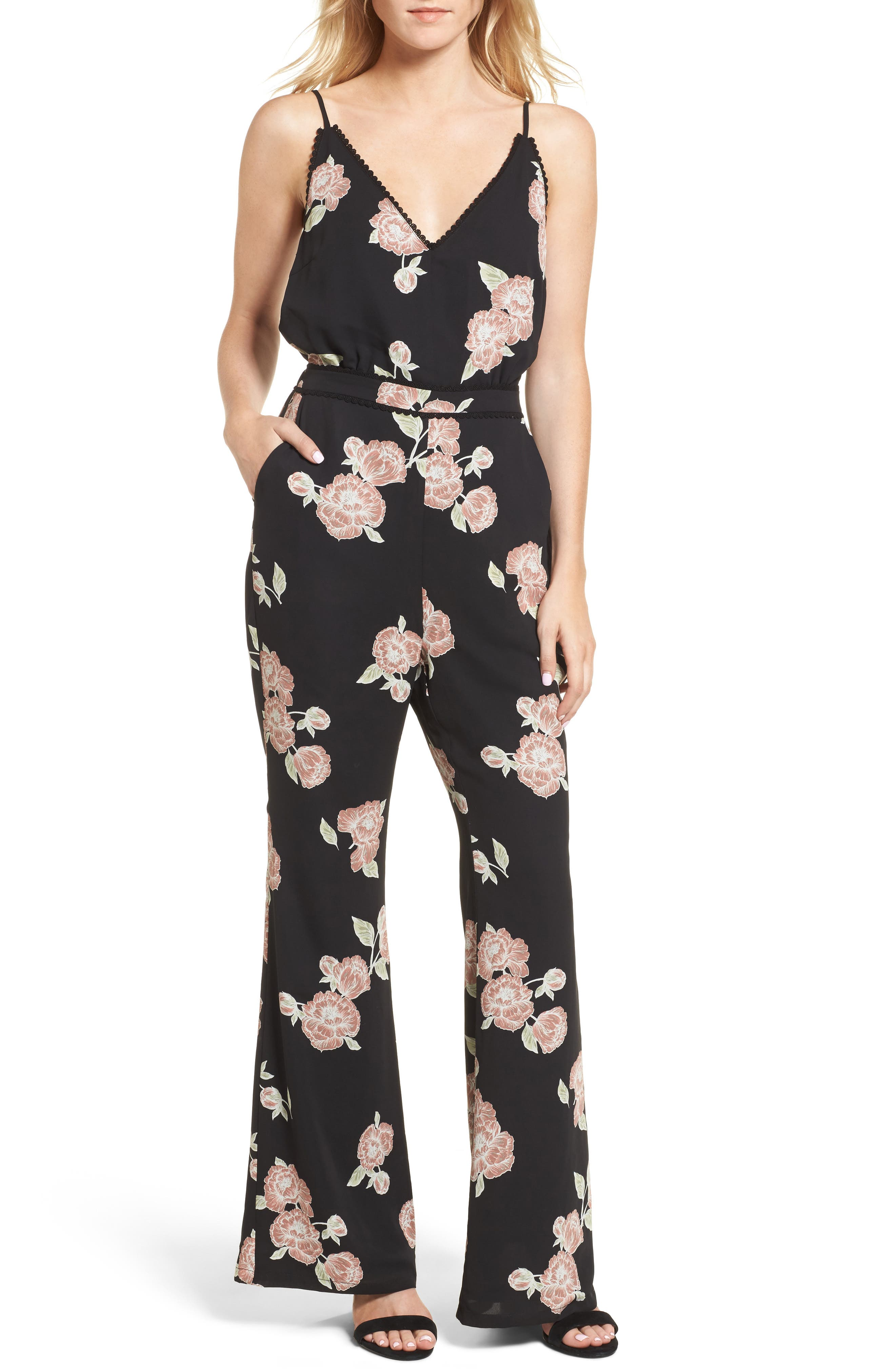cupcakes and cashmere Felissa Strappy Jumpsuit