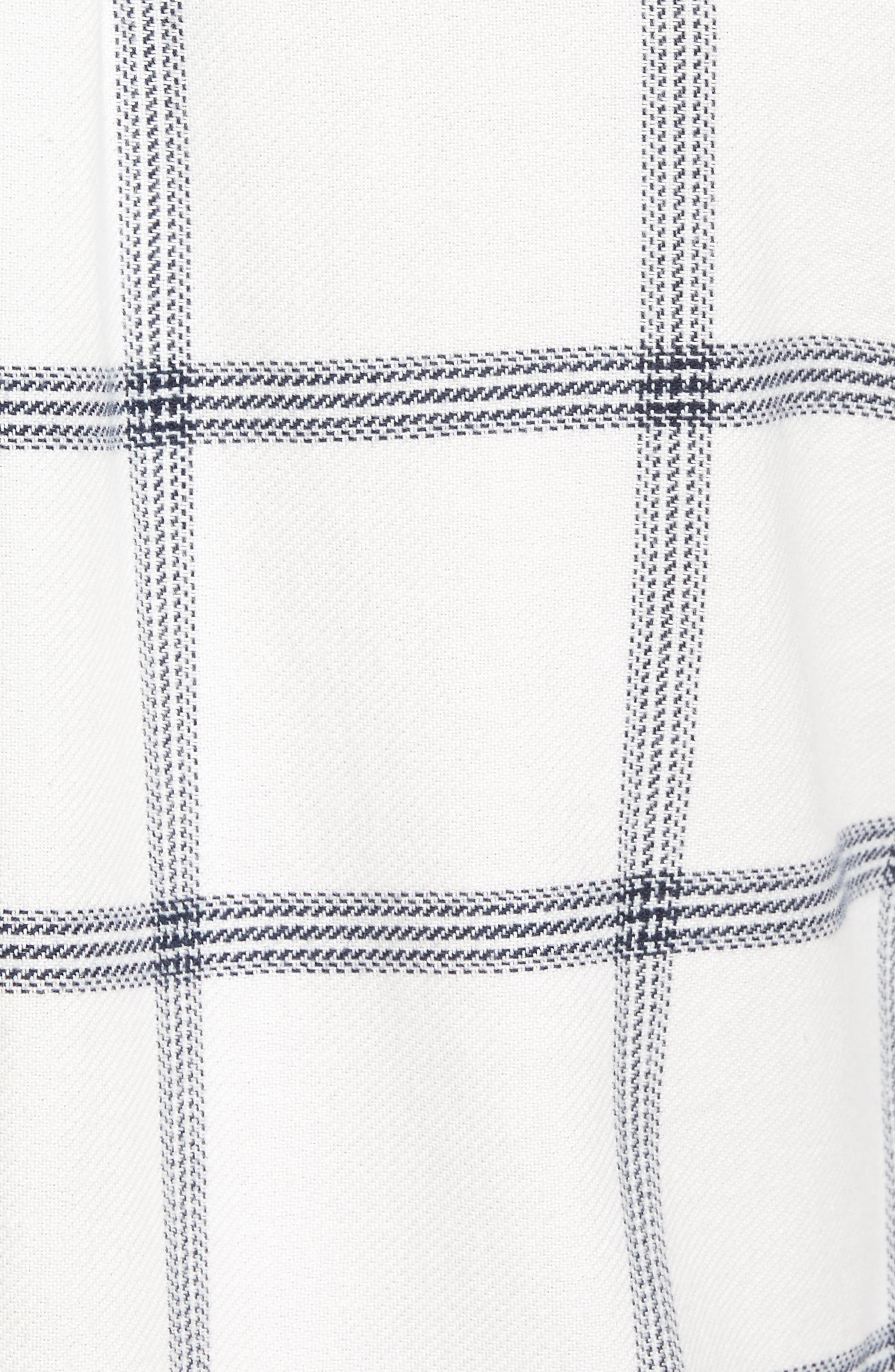 Wayland II Flannel Sport Shirt,                             Alternate thumbnail 5, color,                             Marshmallow/ Dress Blues