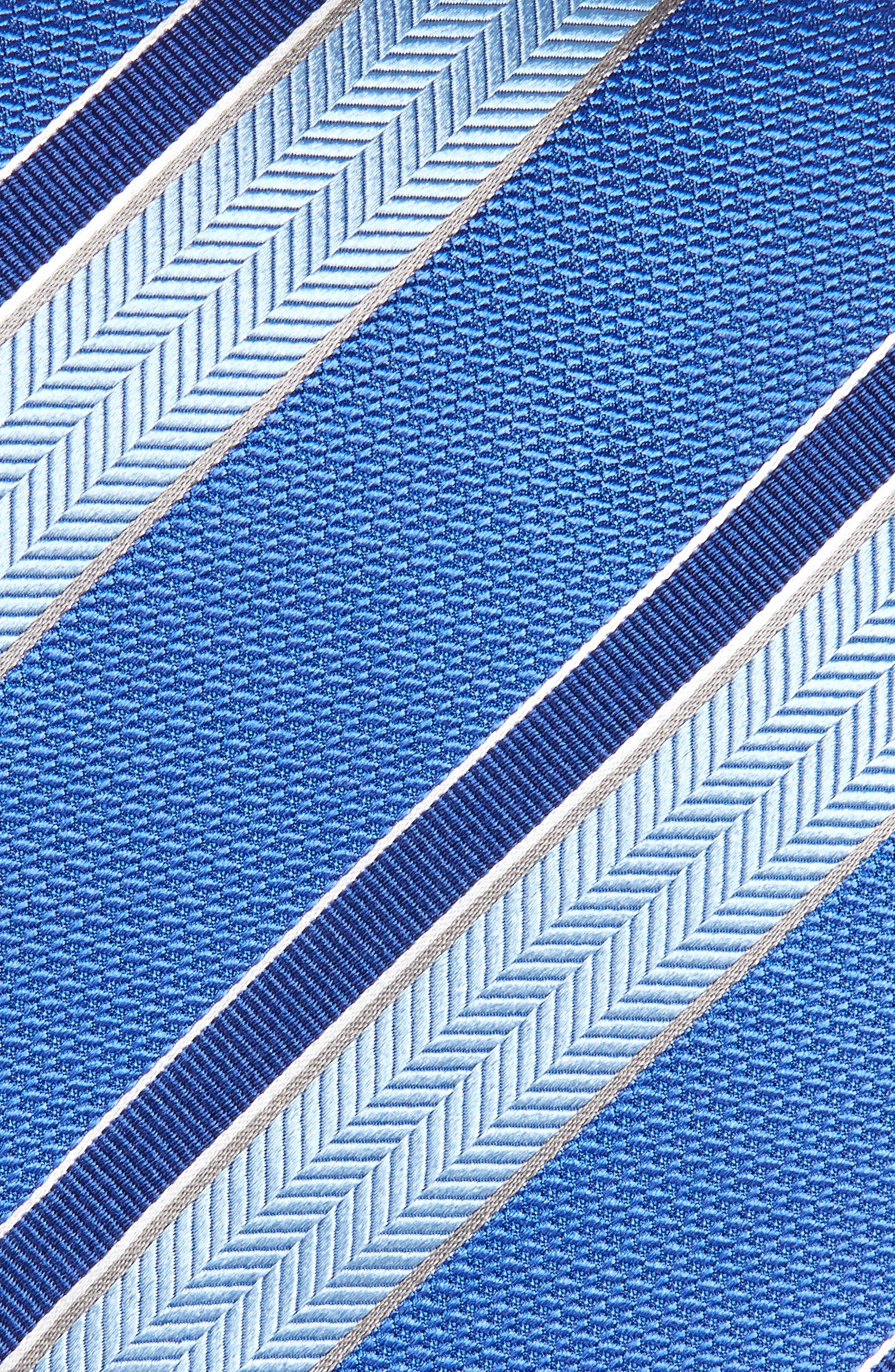 Alternate Image 2  - David Donahue Stripe Silk Tie